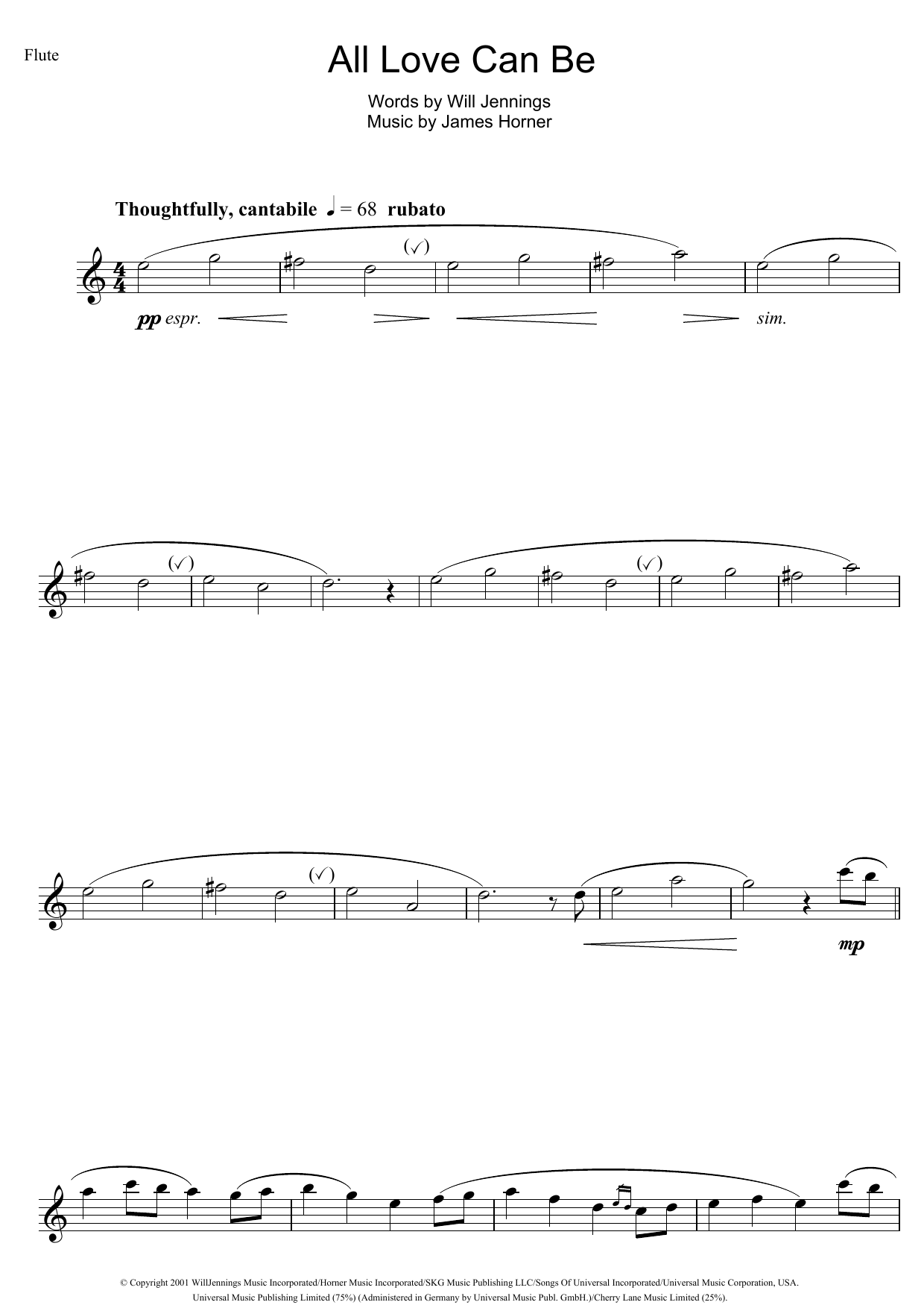 All Love Can Be (from A Beautiful Mind) Sheet Music