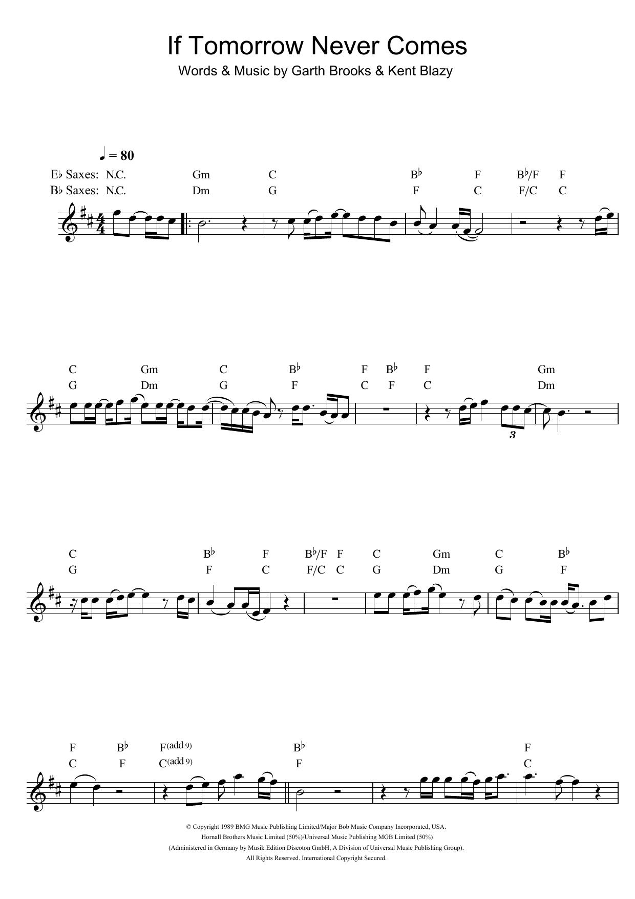 If Tomorrow Never Comes (Alto Sax Solo)