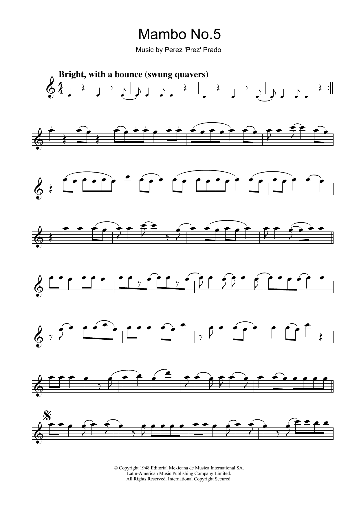 Mambo No. 5 Sheet Music