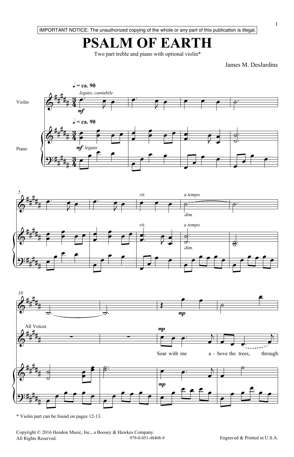 Psalm Of Earth Sheet Music