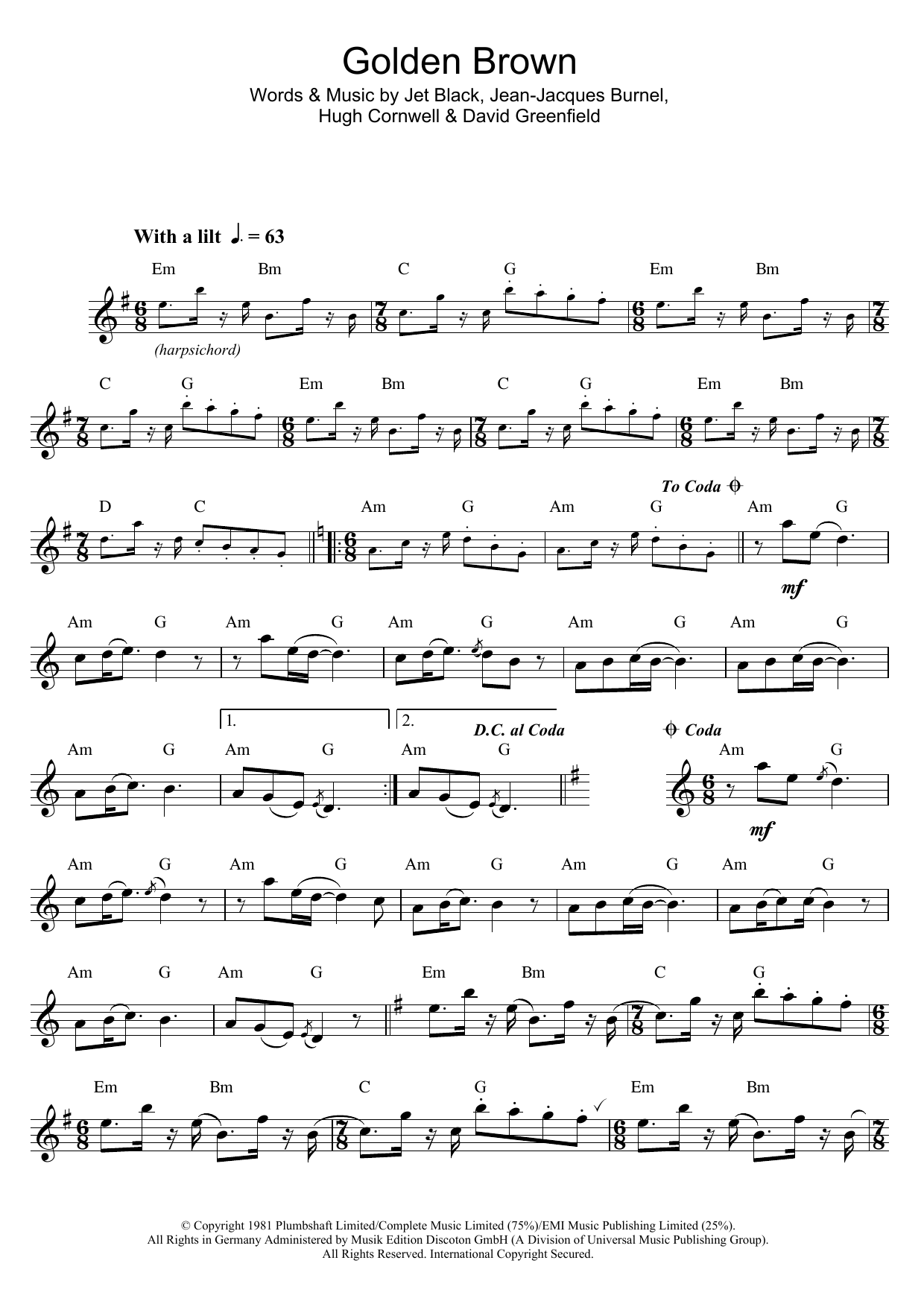 Golden Brown (Alto Sax Solo)