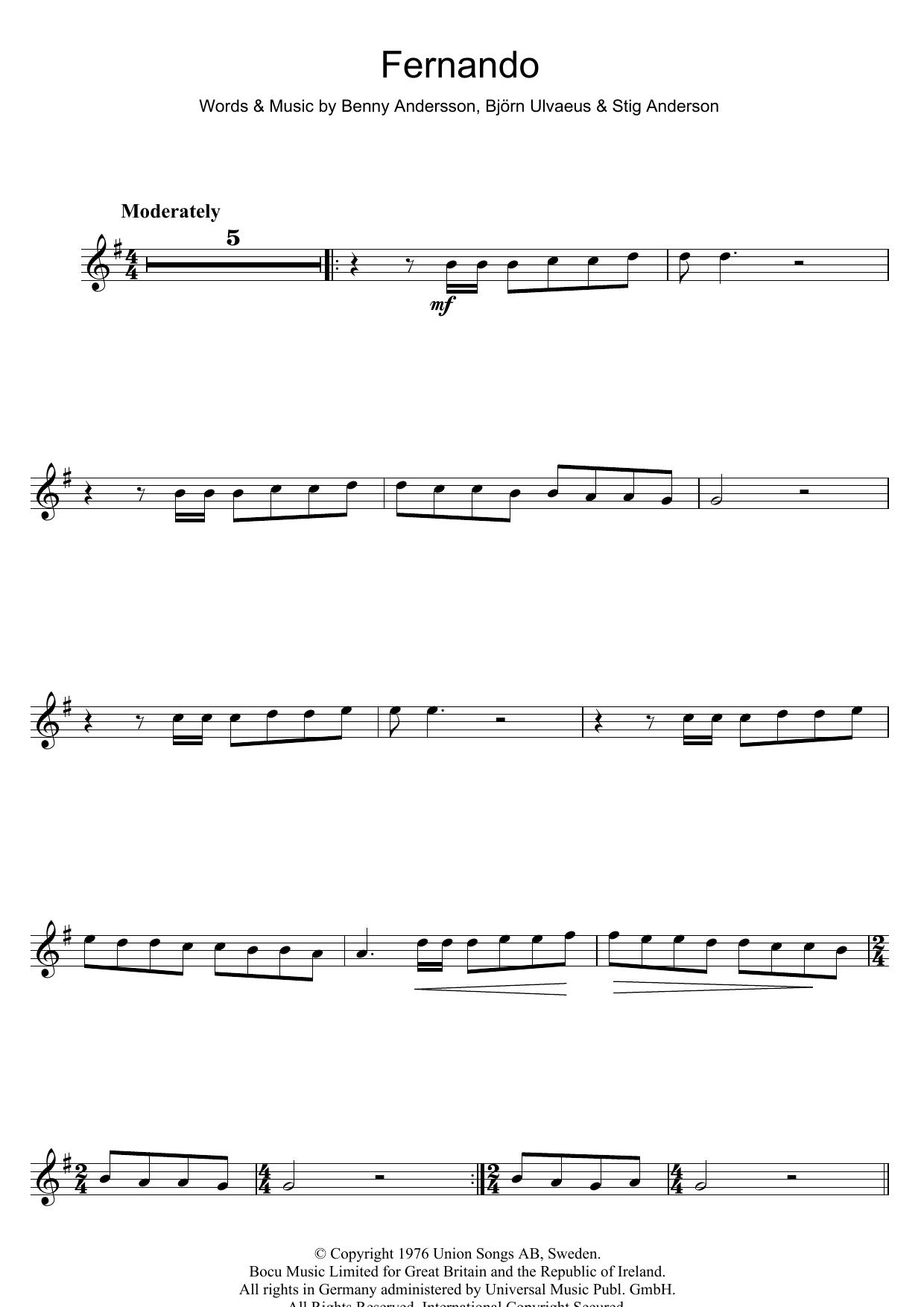 Fernando (Flute Solo)