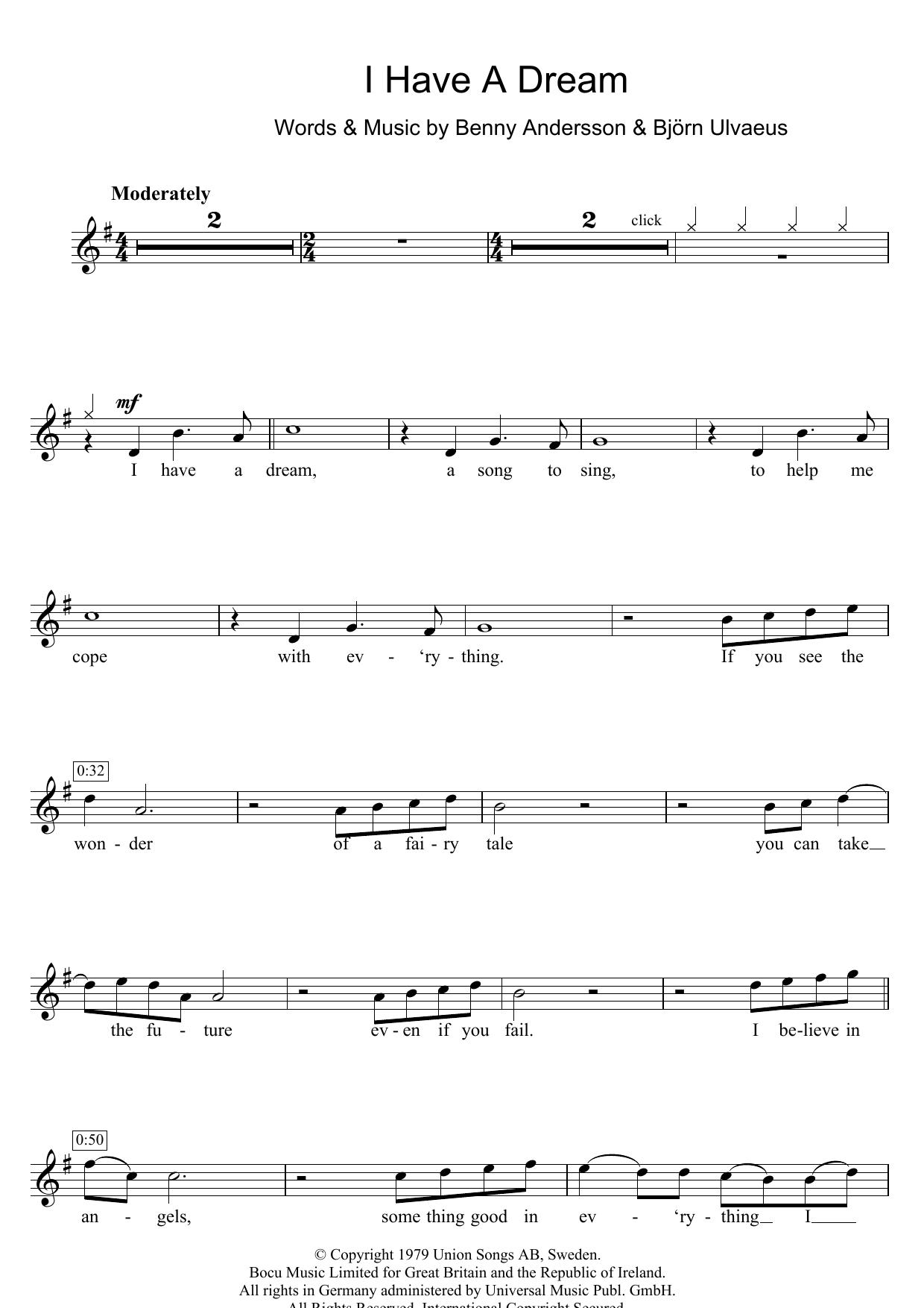 I Have A Dream (Flute Solo)