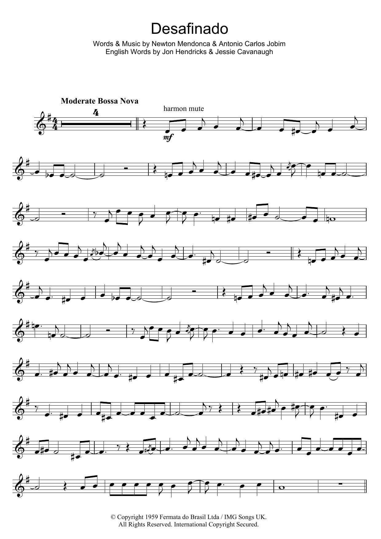 Desafinado (Slightly Out Of Tune) (Trumpet Solo)