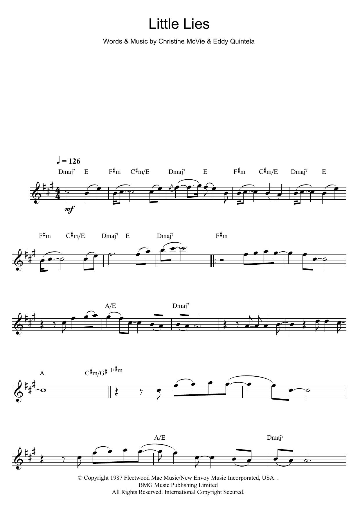 Little Lies (Flute Solo)