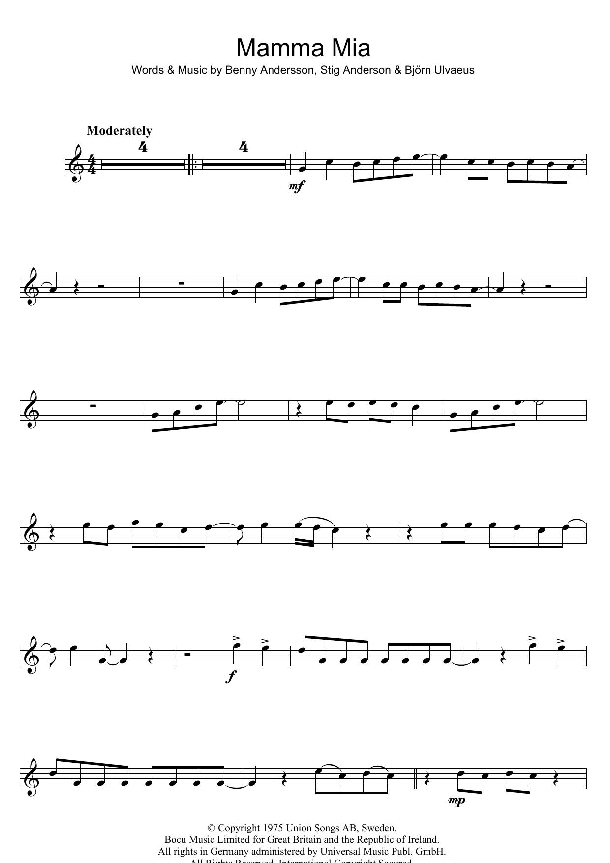 Mamma Mia (Flute Solo)