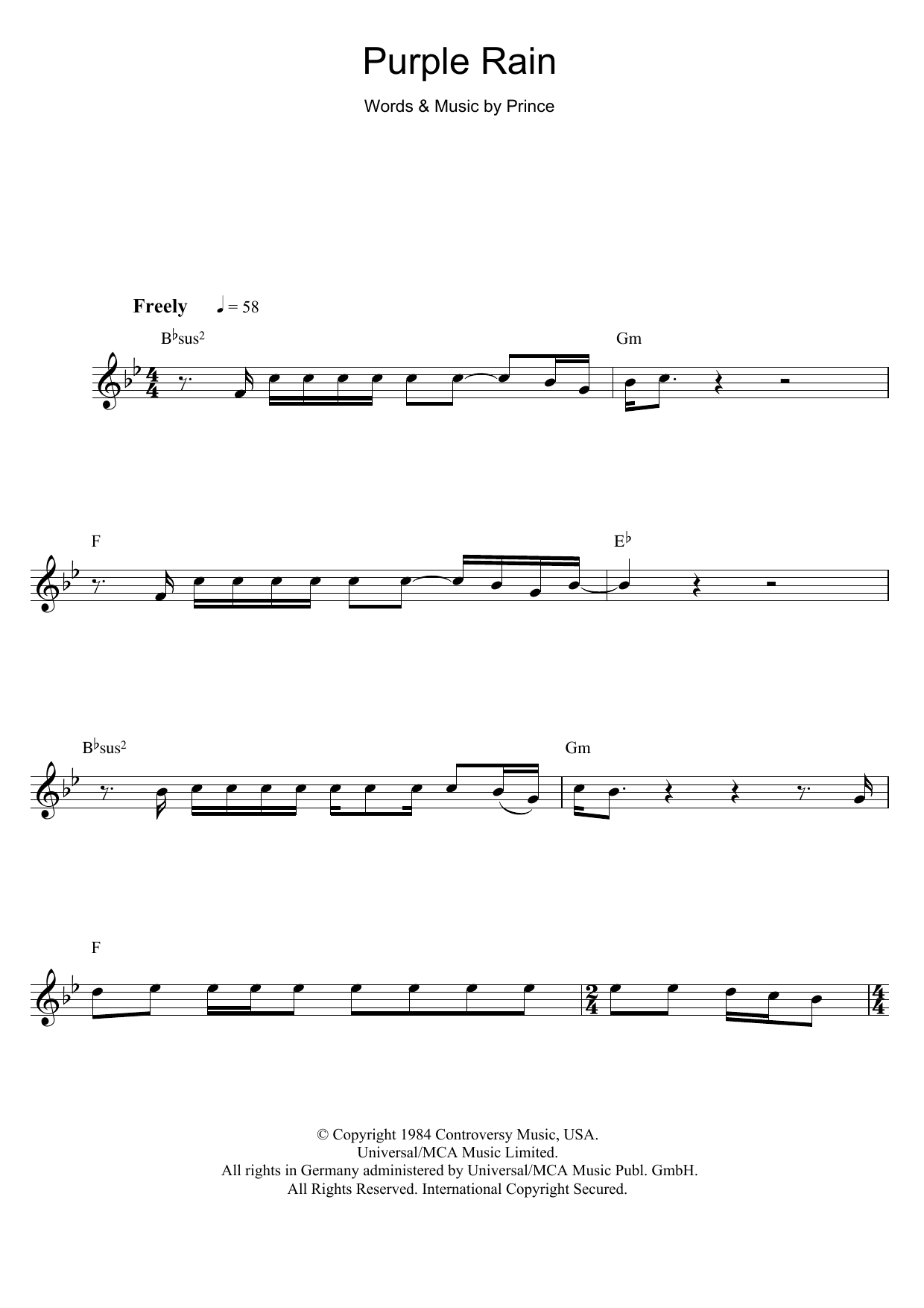 Purple Rain (Flute Solo)