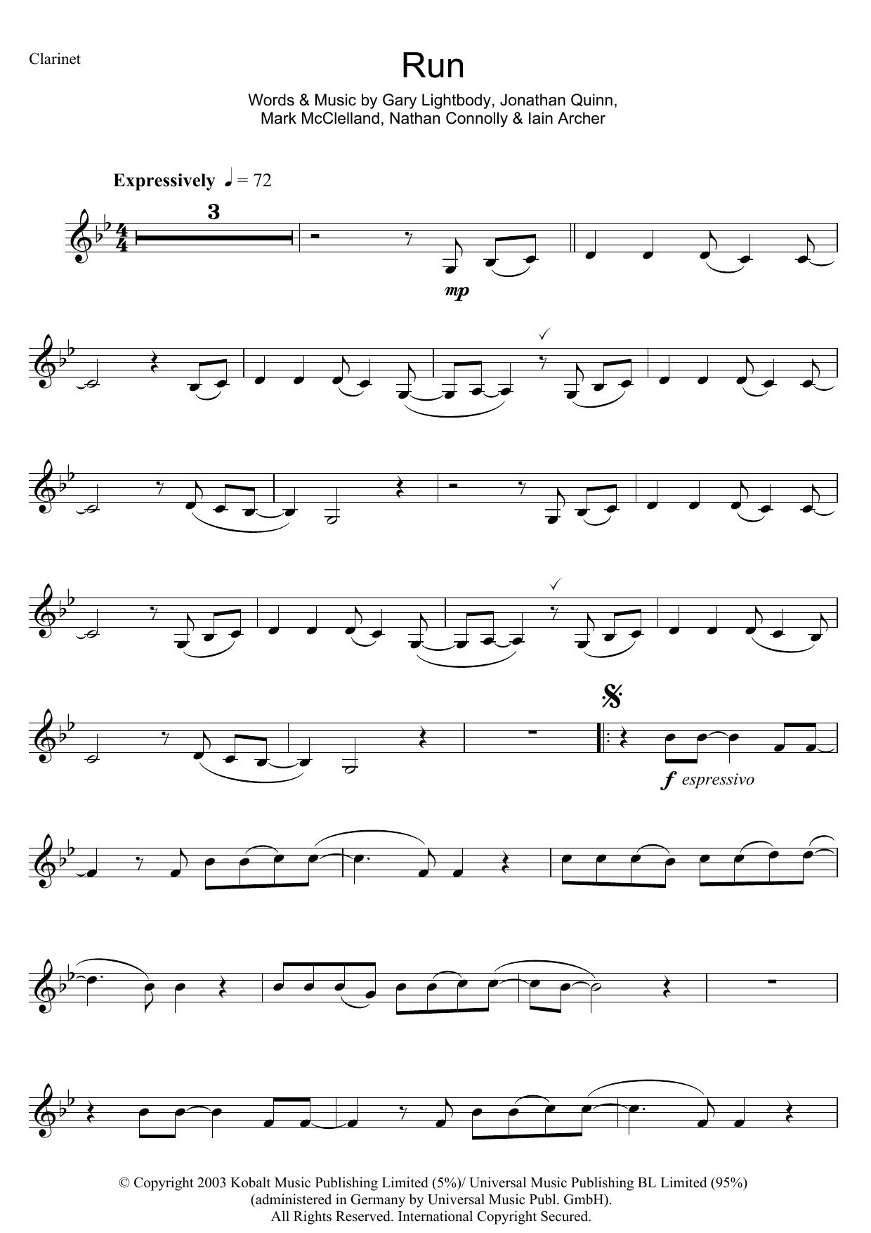 Run Sheet Music