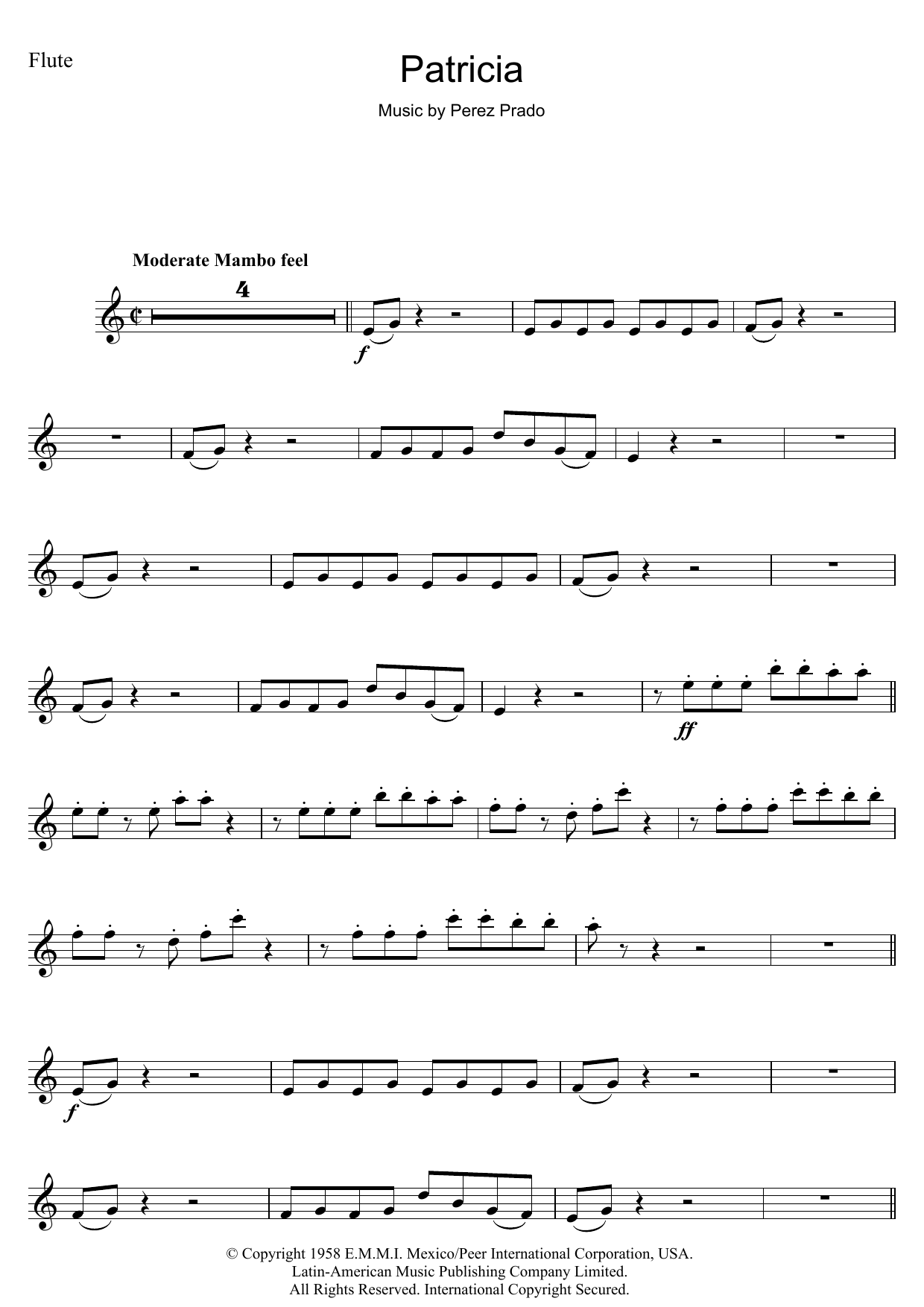 Patricia Sheet Music