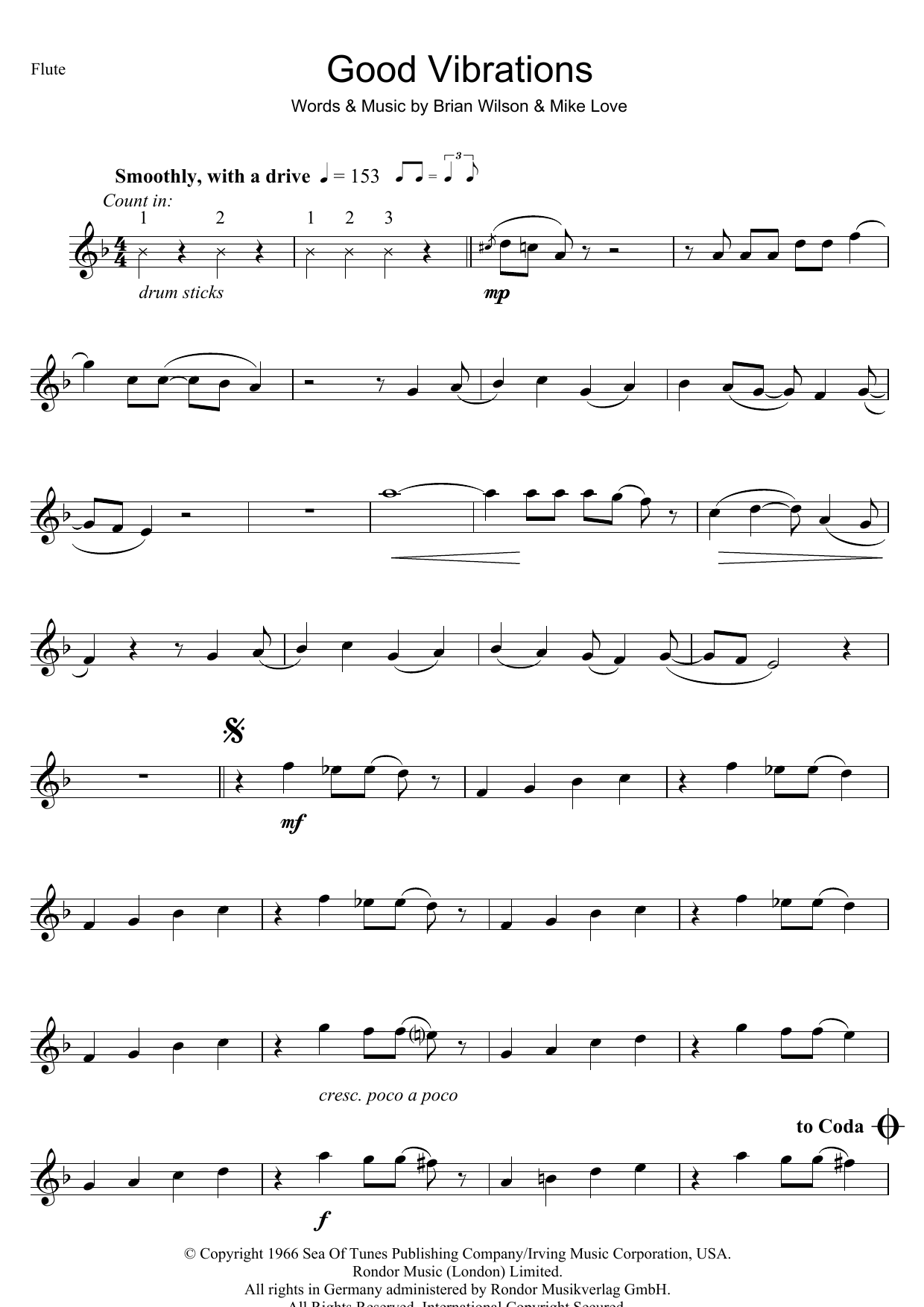 Good Vibrations Sheet Music