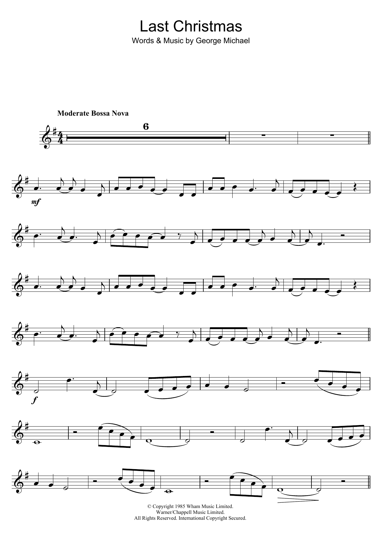 Last christmas sheet music direct sheet preview hexwebz Image collections