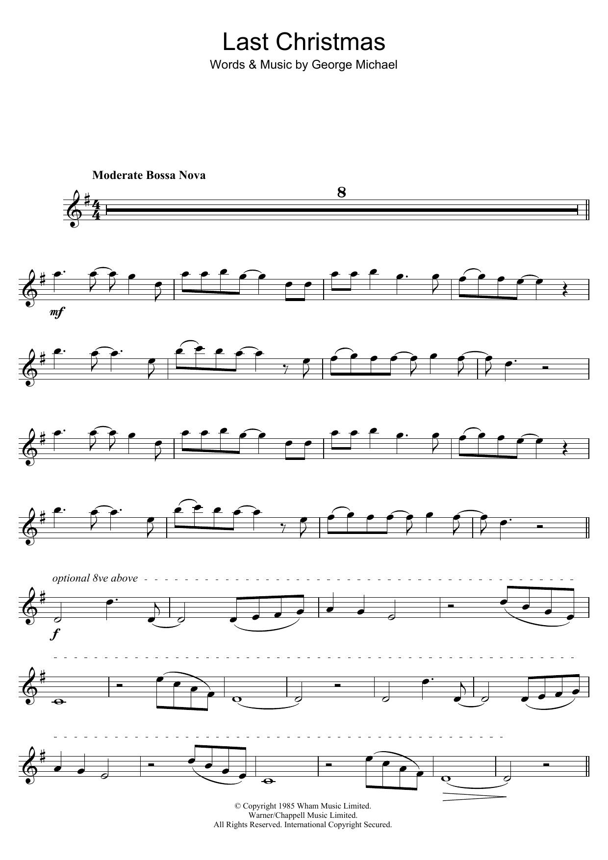 Last Christmas (Tenor Sax Solo)