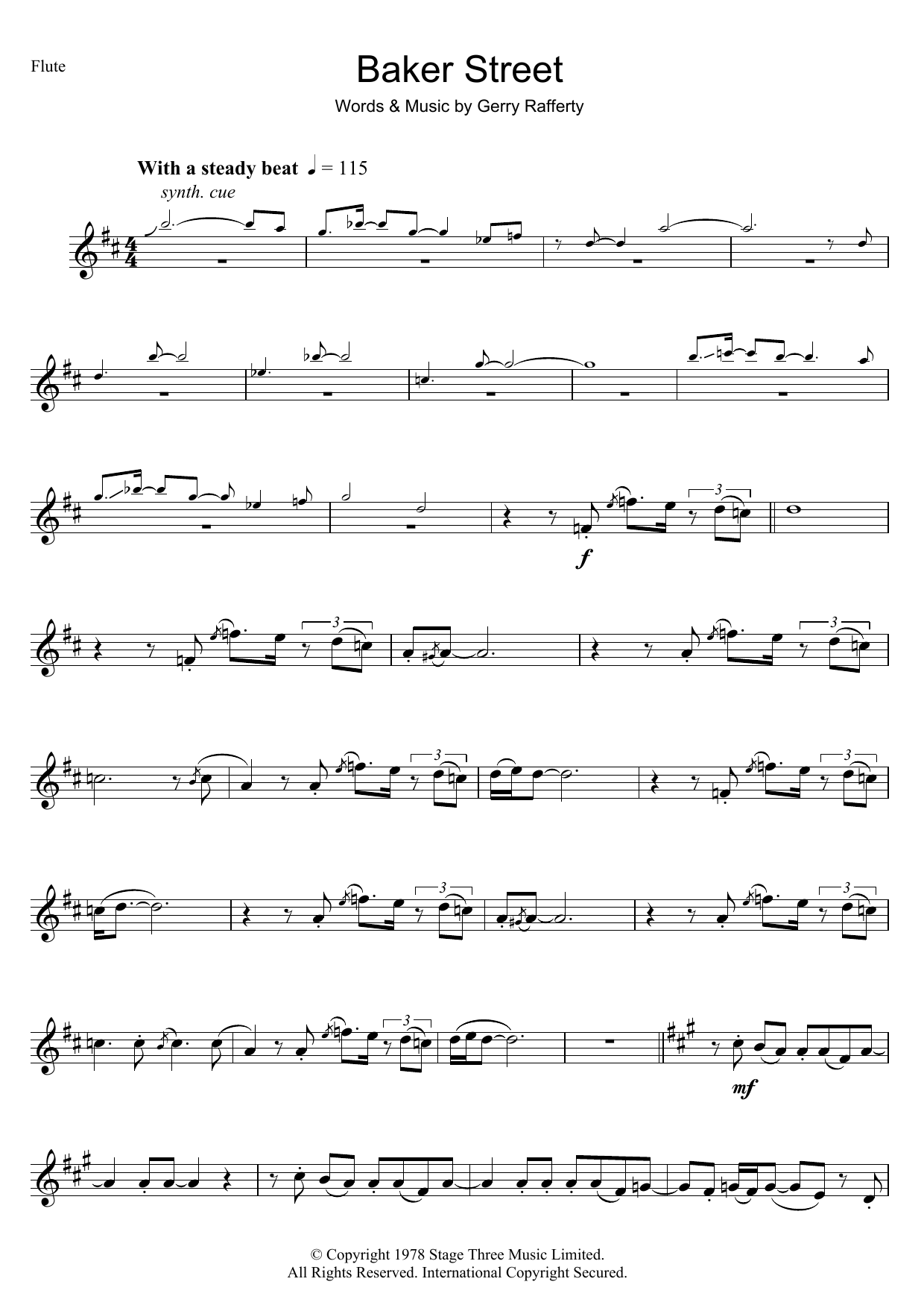 Baker Street (Flute Solo)