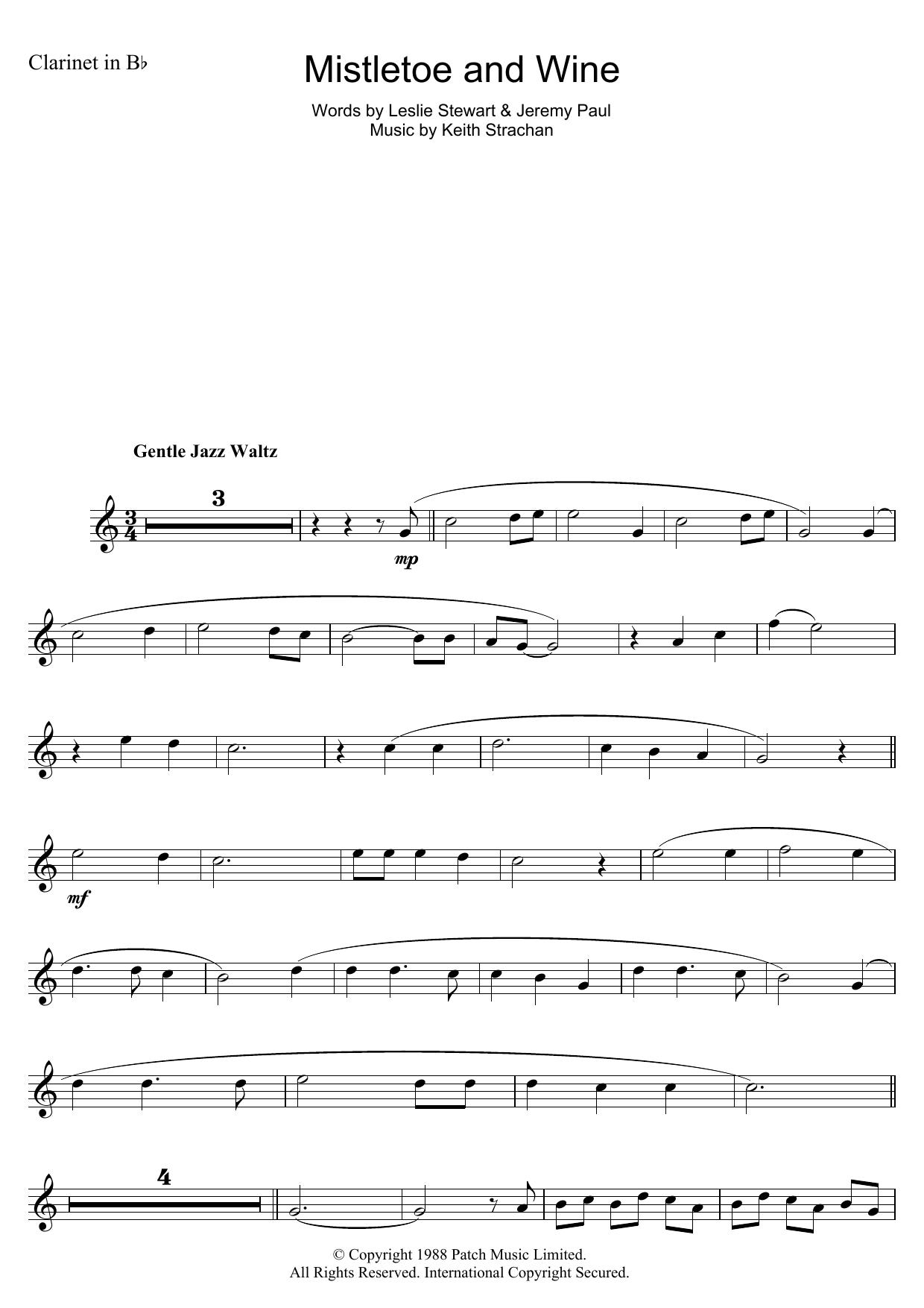 Mistletoe And Wine (Clarinet Solo)