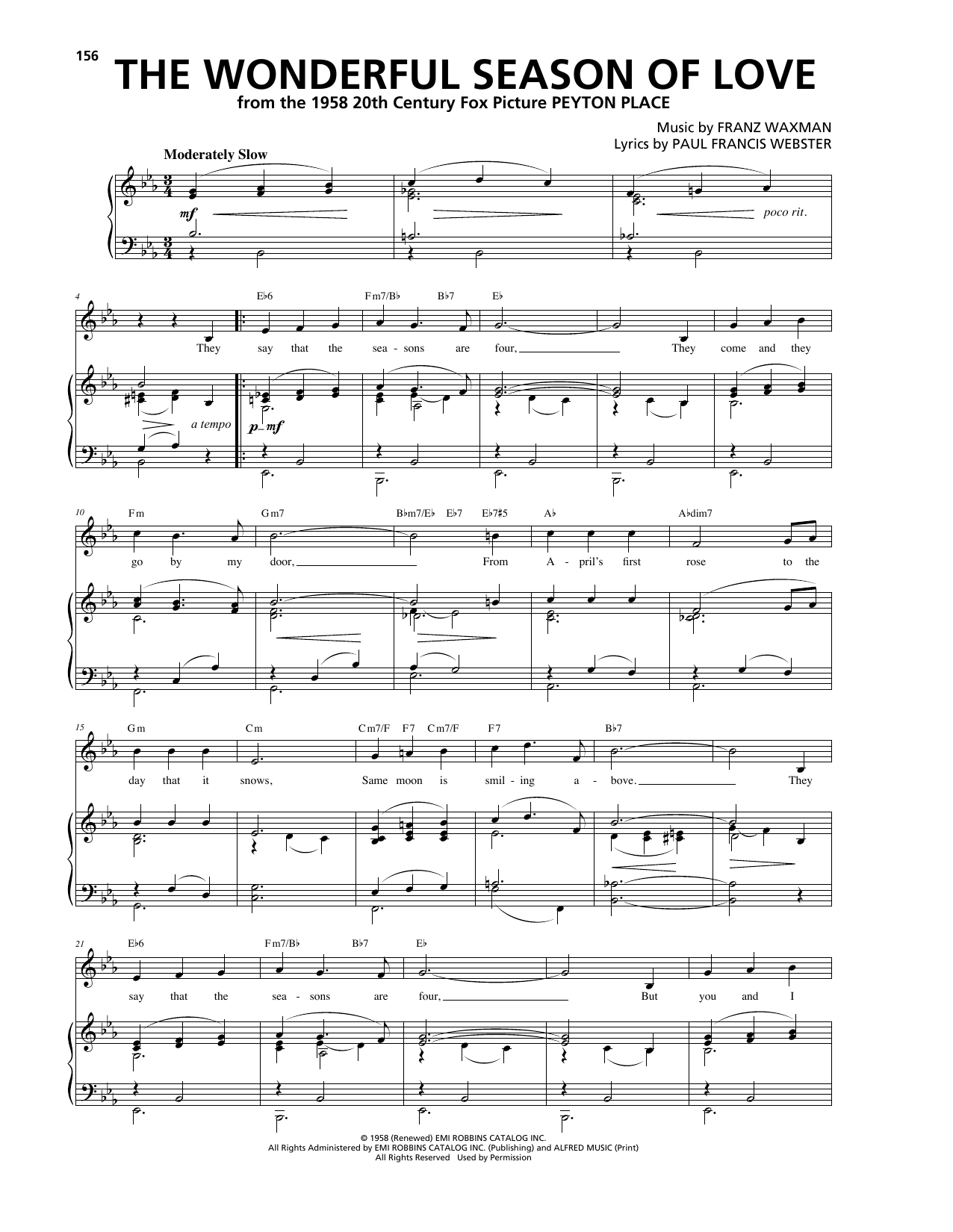The Wonderful Season Of Love Sheet Music