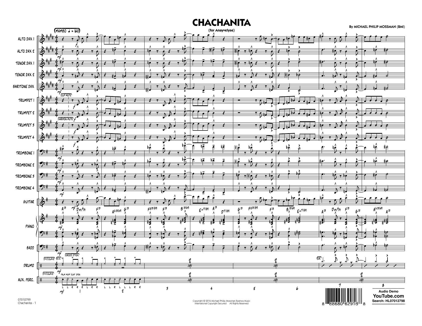 Chachanita - Conductor Score (Full Score) (Jazz Ensemble)