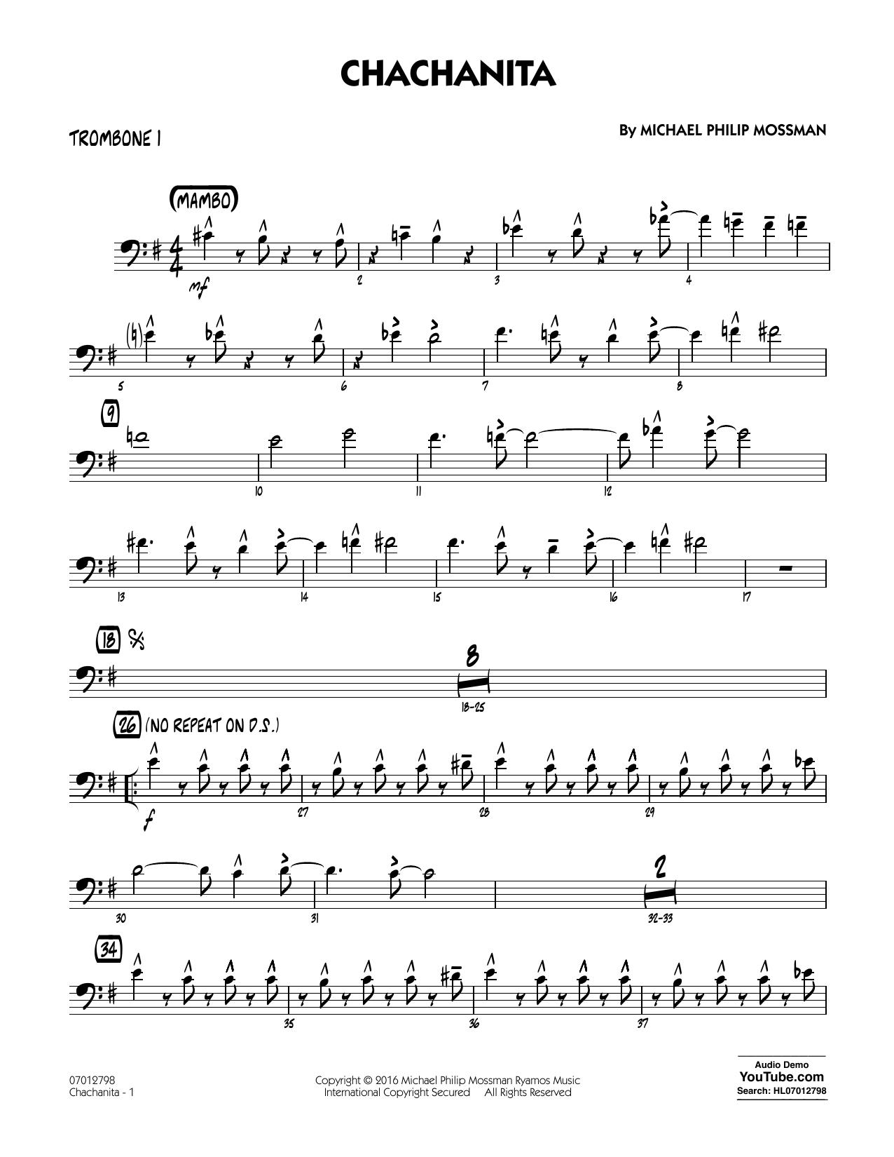 Chachanita - Trombone 1 (Jazz Ensemble)
