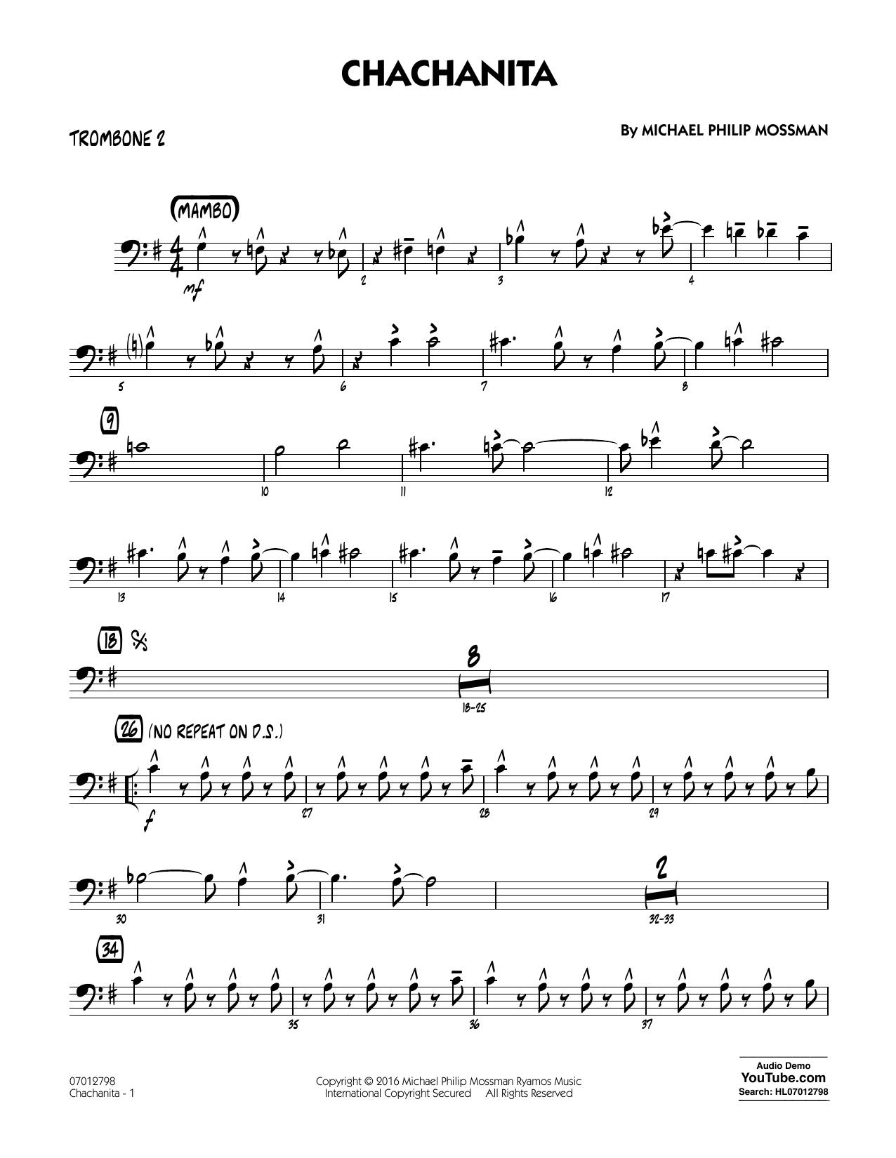 Chachanita - Trombone 2 (Jazz Ensemble)