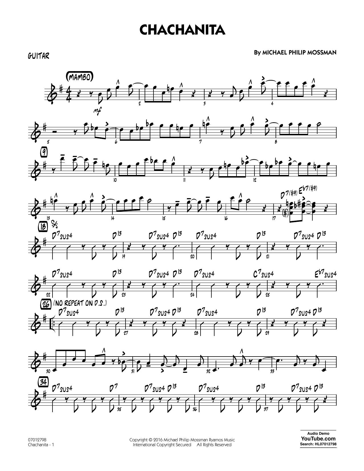 Chachanita - Guitar (Jazz Ensemble)