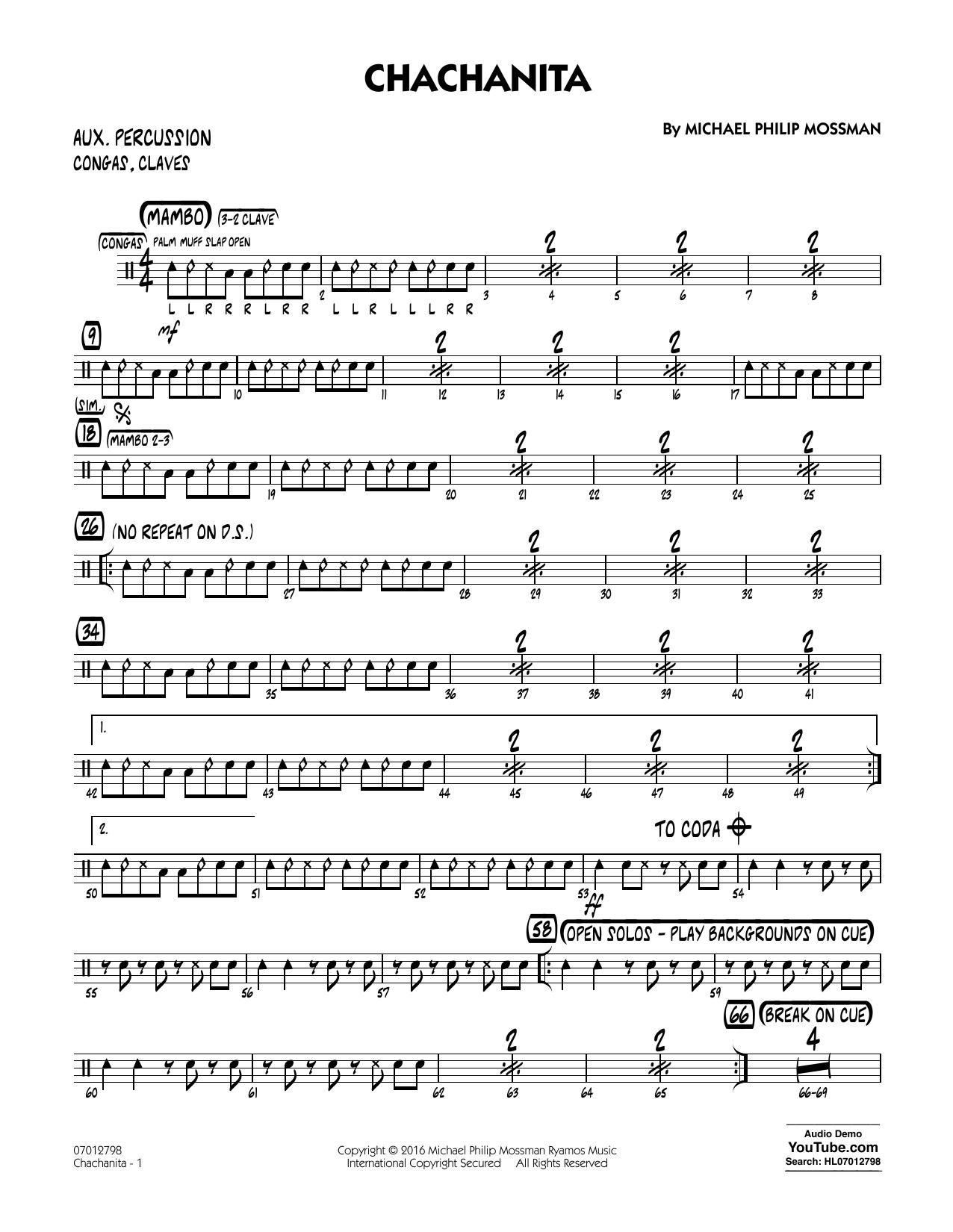 Chachanita - Aux Percussion (Jazz Ensemble)