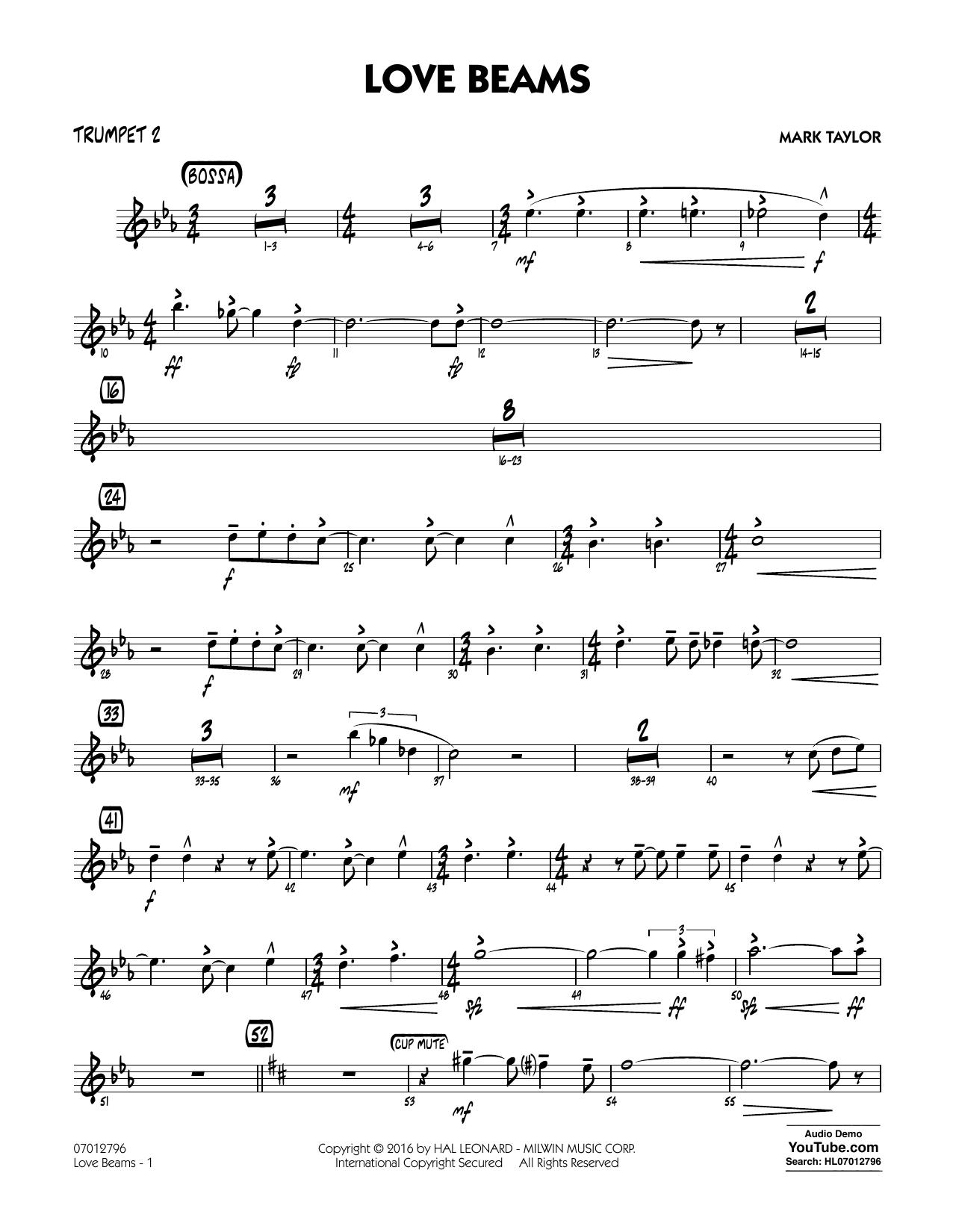 Love Beams - Trumpet 2 (Jazz Ensemble)