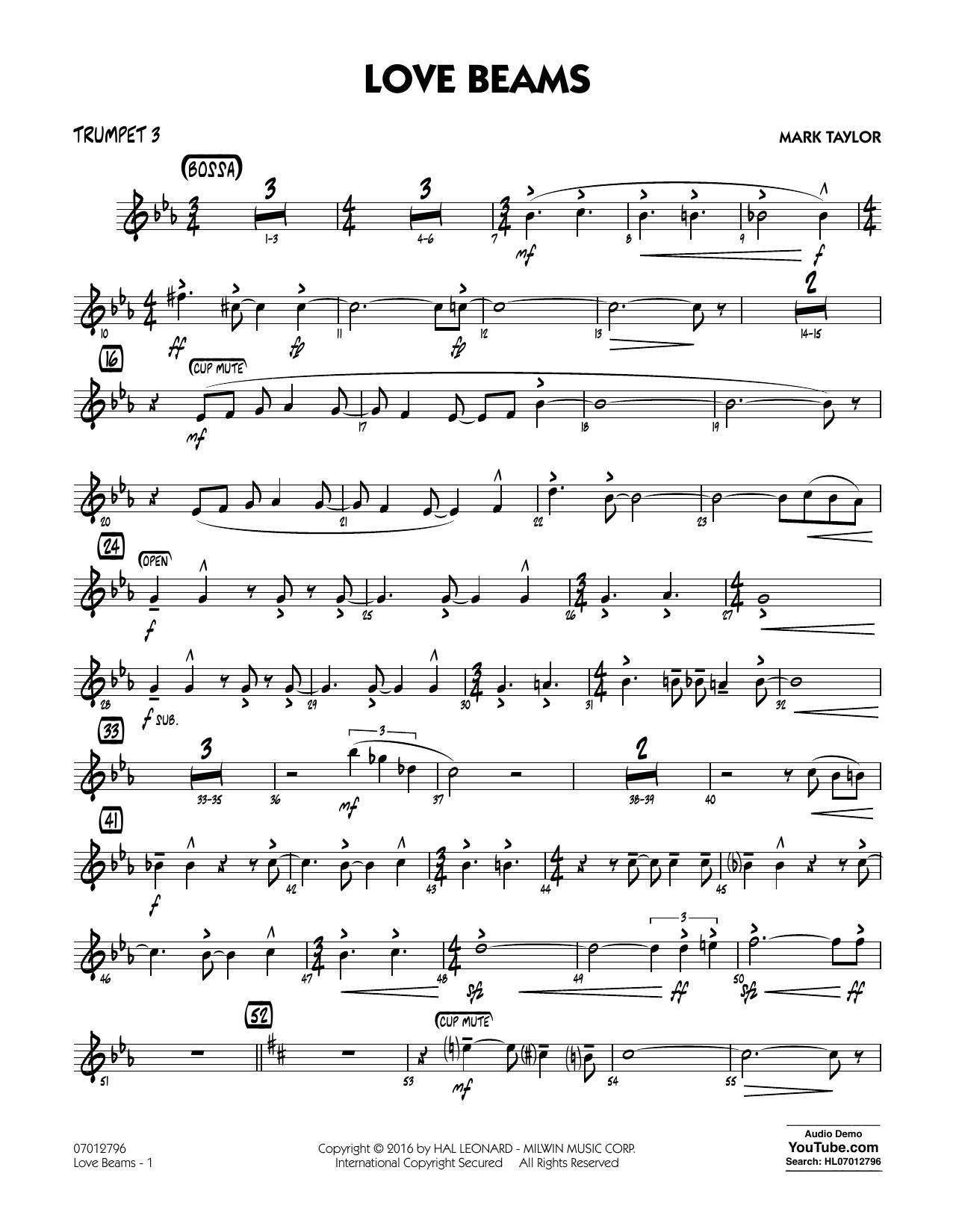 Love Beams - Trumpet 3 (Jazz Ensemble)