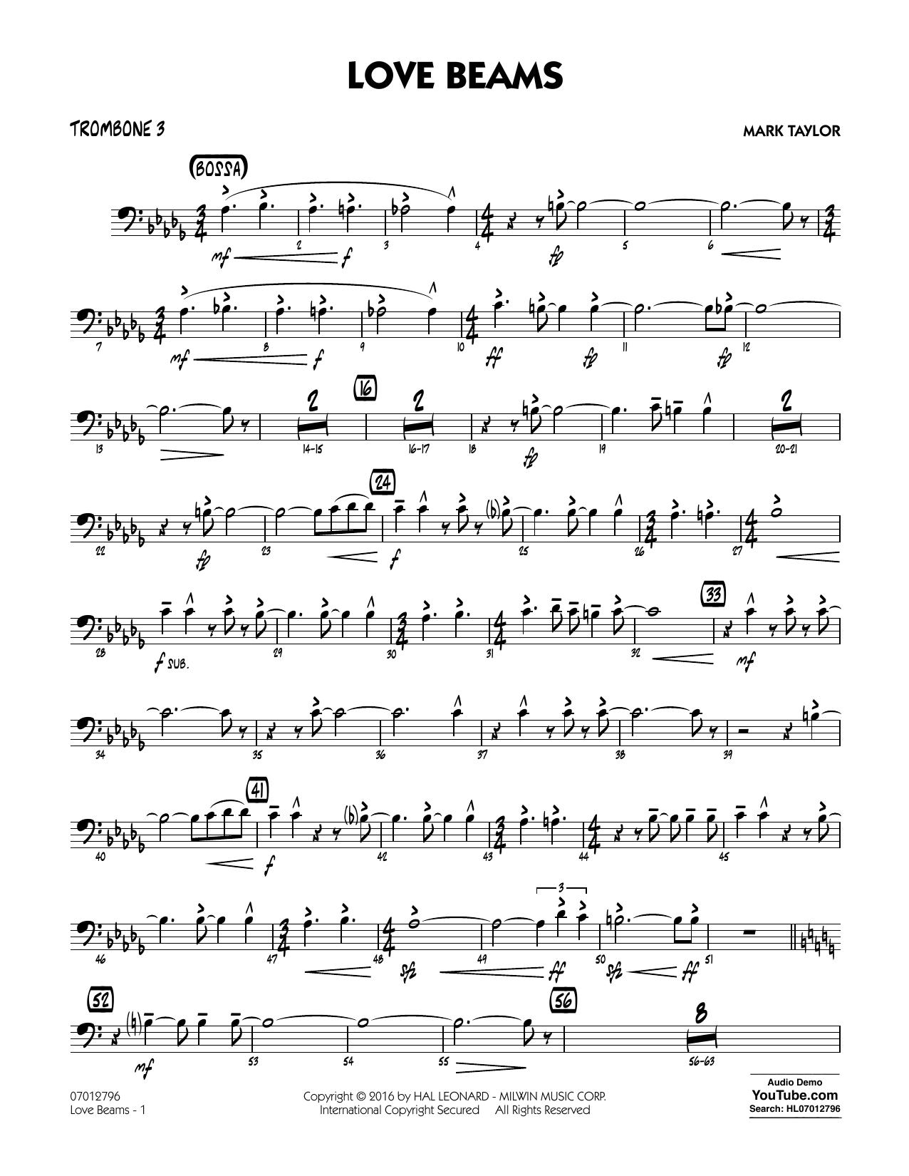 Love Beams - Trombone 3 (Jazz Ensemble)