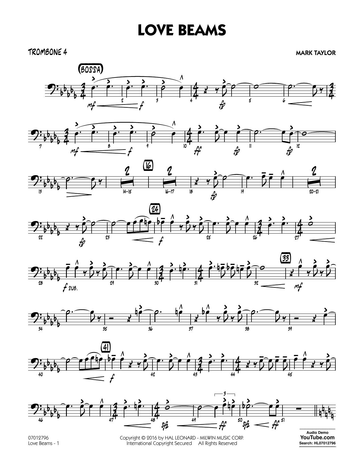 Love Beams - Trombone 4 (Jazz Ensemble)