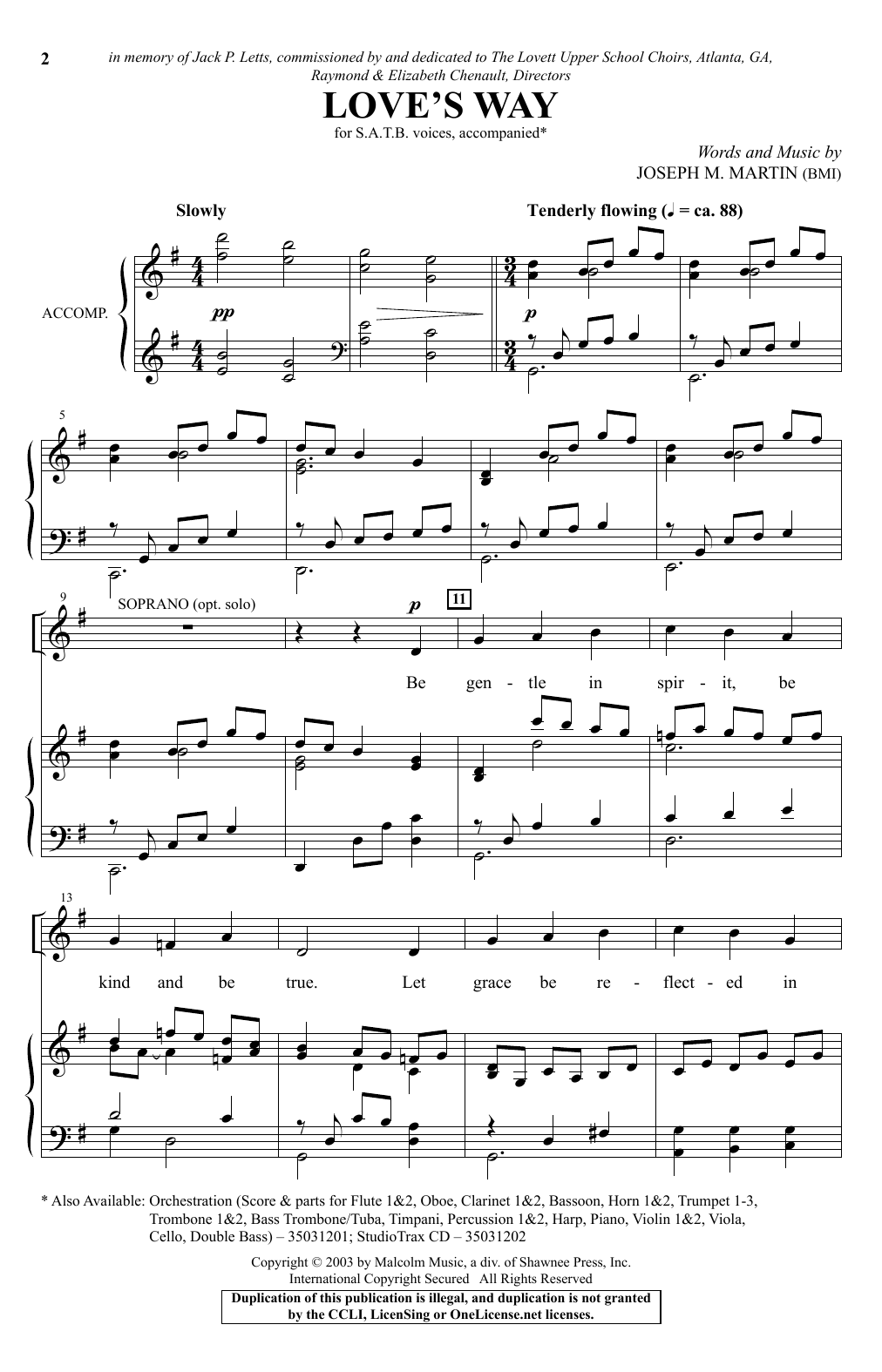 Love's Way Sheet Music