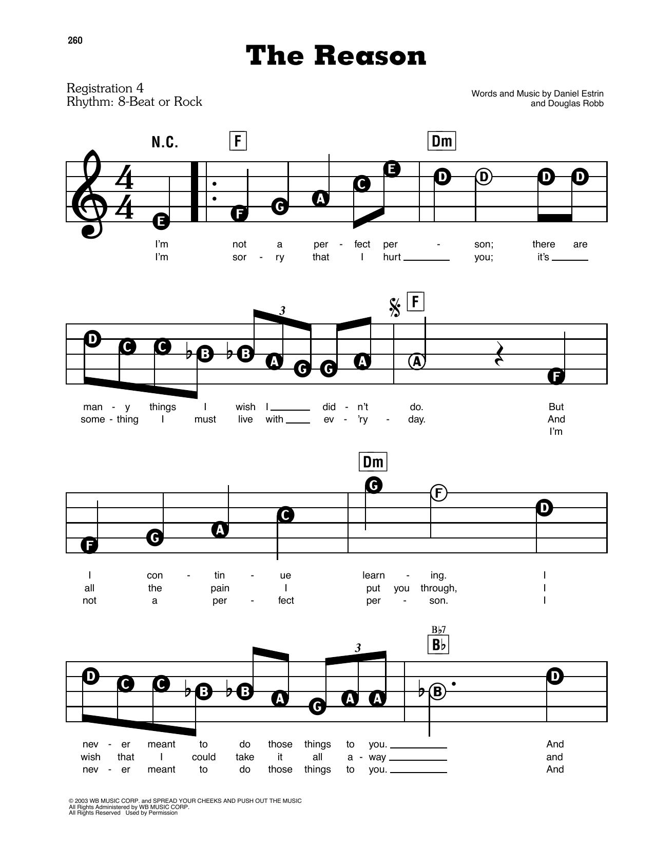 The Reason Sheet Music