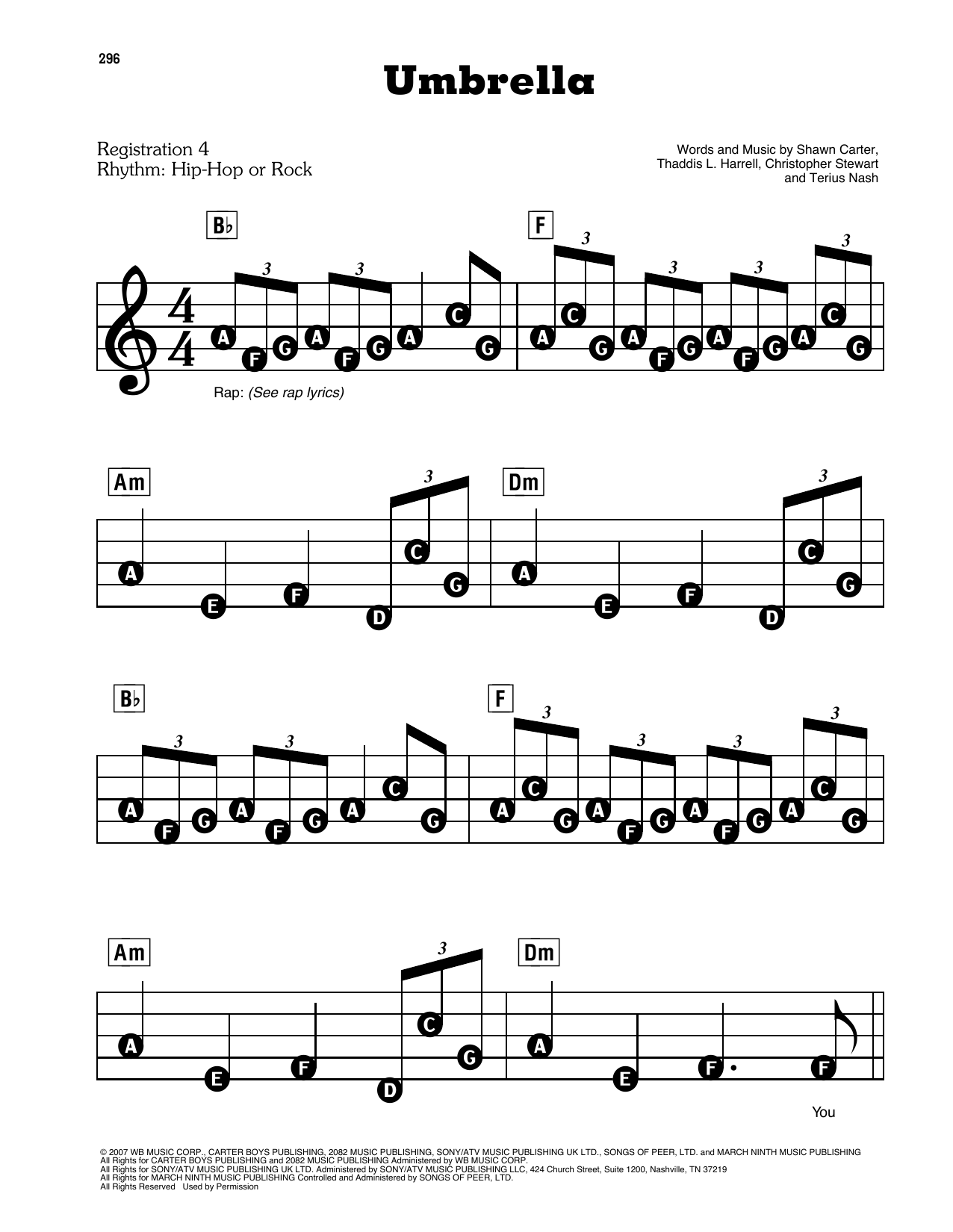 Umbrella (arr. Jay-Z) Sheet Music