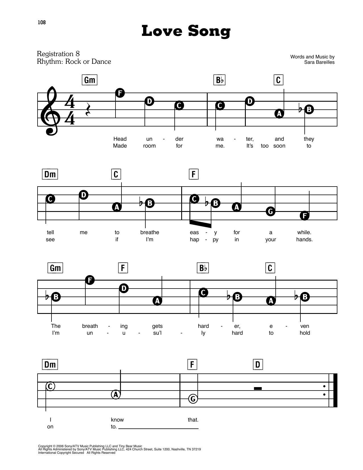 Love Song (E-Z Play Today)