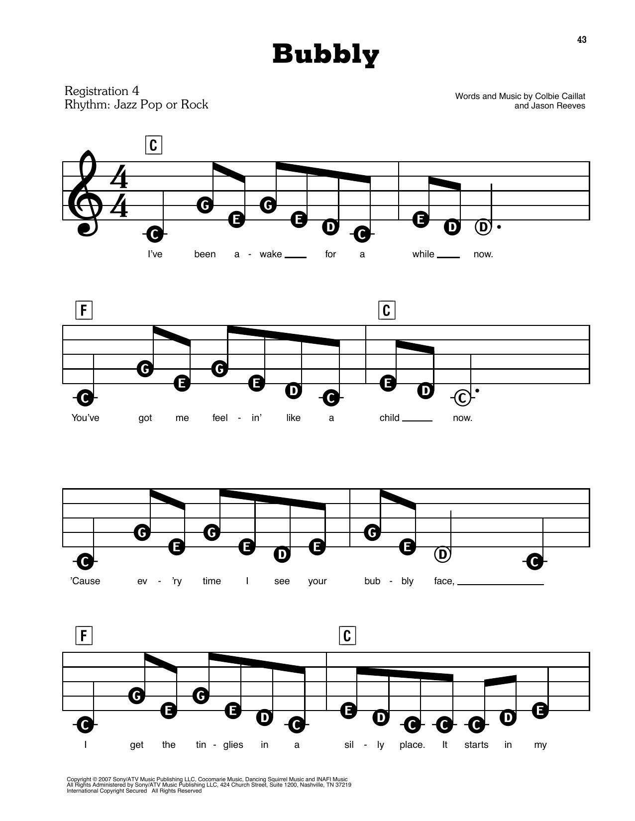 Bubbly Sheet Music
