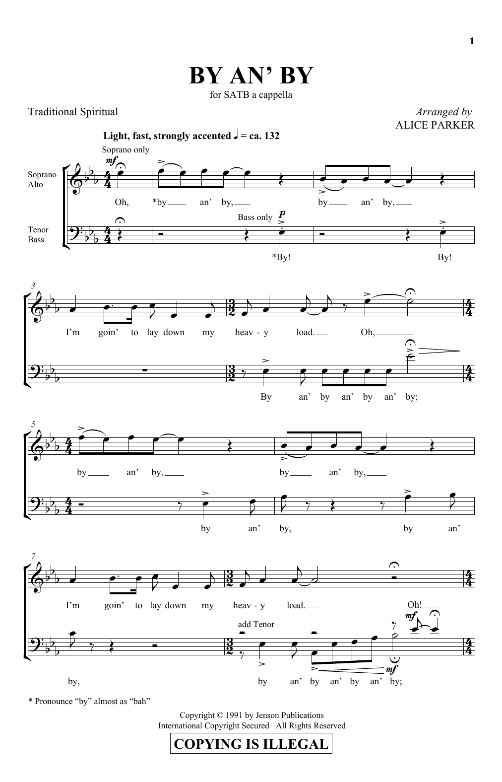 By An' By Sheet Music
