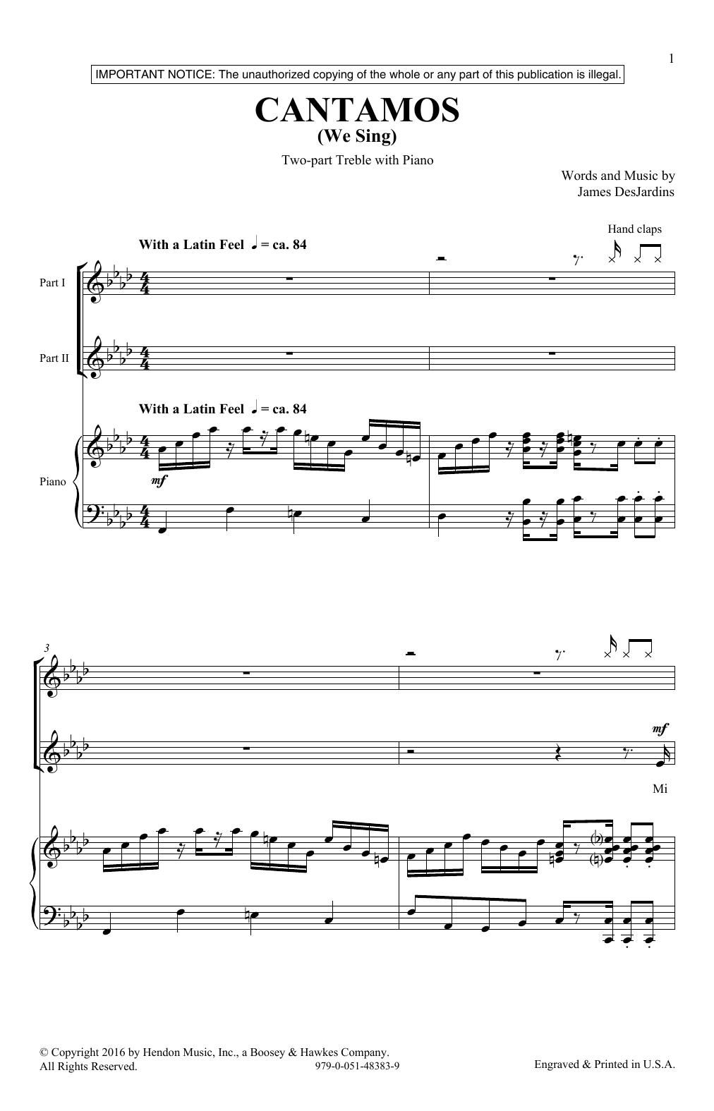 Cantamos (2-Part Choir)
