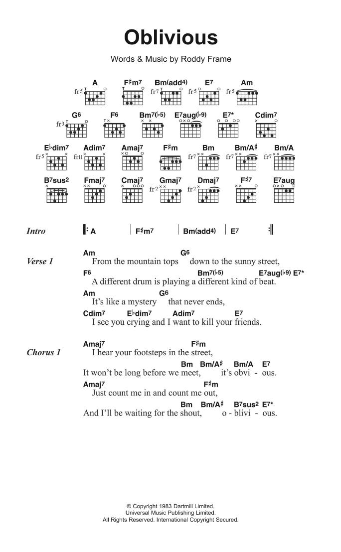 Oblivious Sheet Music