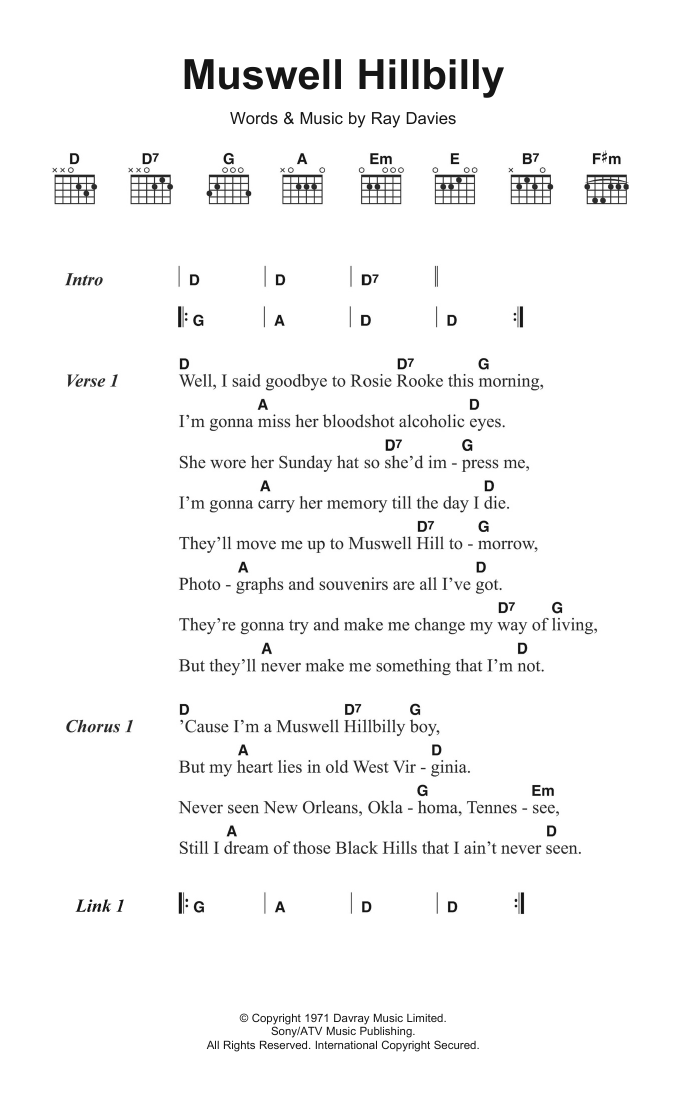 Muswell Hillbilly Sheet Music