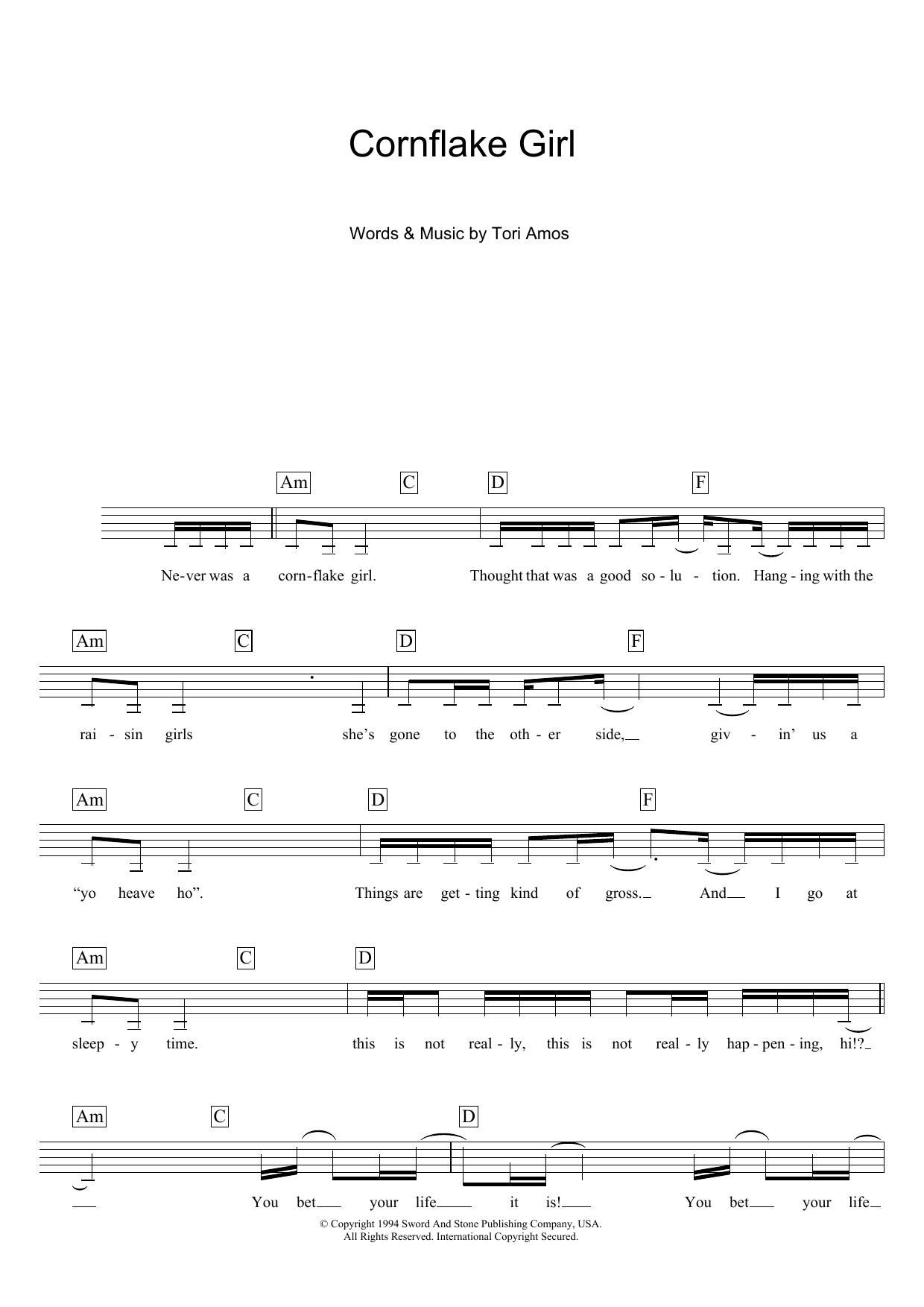 Cornflake Girl Sheet Music