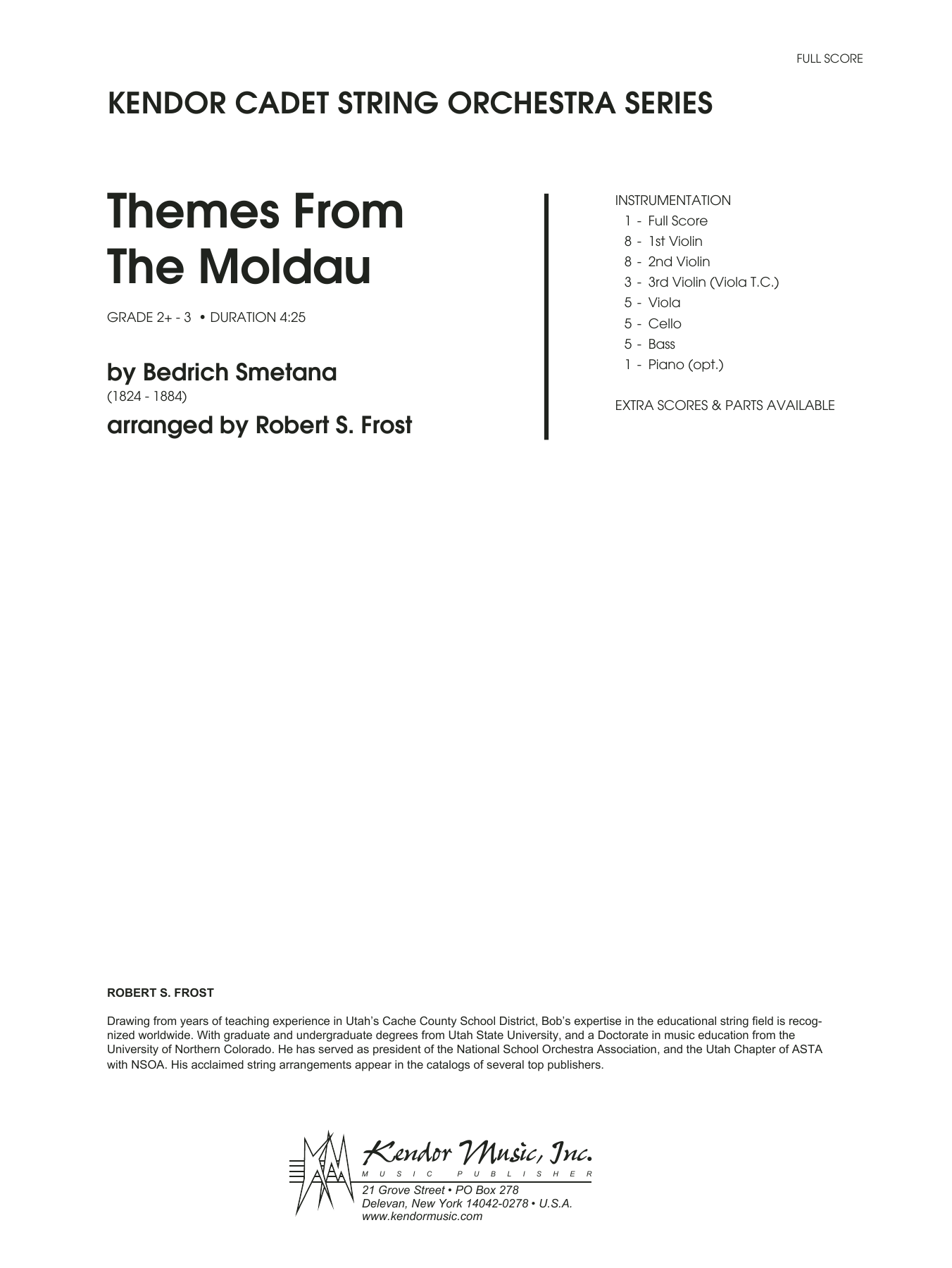 Themes From The Moldau (COMPLETE) sheet music for orchestra by Robert S. Frost. Score Image Preview.