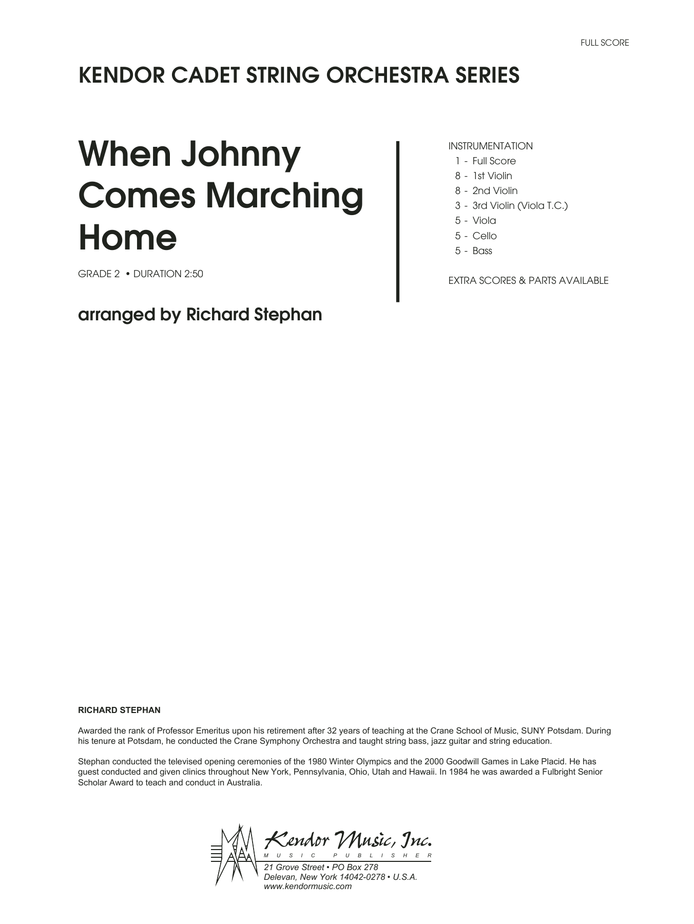 When Johnny Comes Marching Home (COMPLETE) sheet music for orchestra by Richard Stephan and Miscellaneous. Score Image Preview.