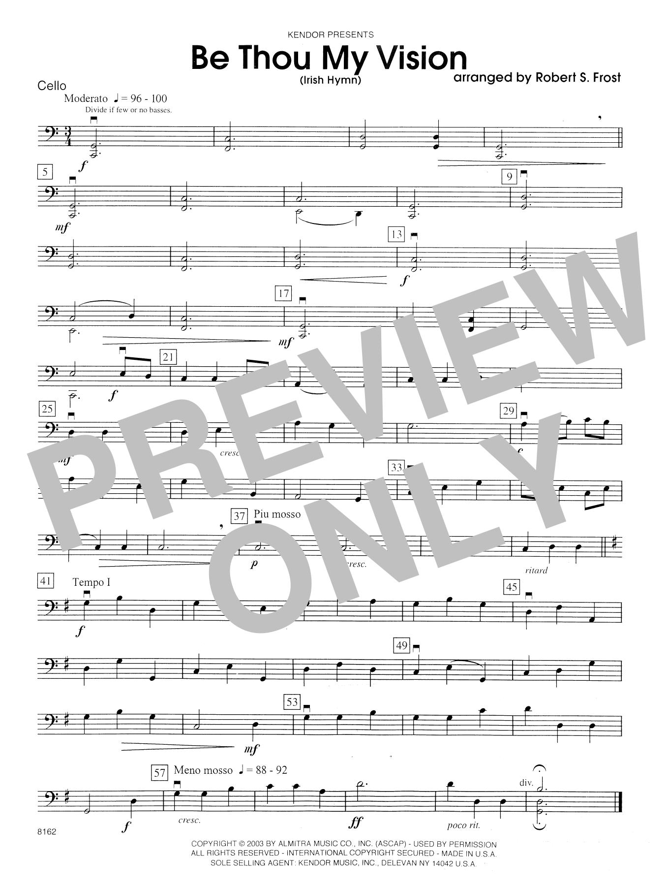Be Thou My Vision (Irish Hymn) - Cello Sheet Music