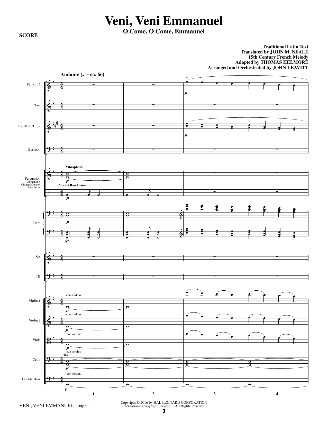 What Sweeter Music (a Cantata For Christmas) (COMPLETE) sheet music for orchestra/band by John Leavitt and Robert Herrick. Score Image Preview.