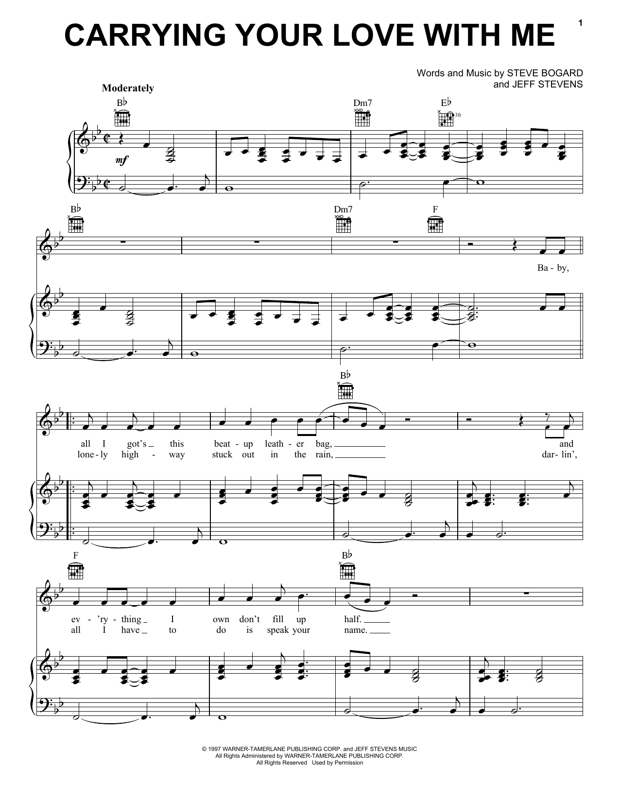 Carrying your love with me sheet music direct sheet preview carrying your love with me hexwebz Image collections