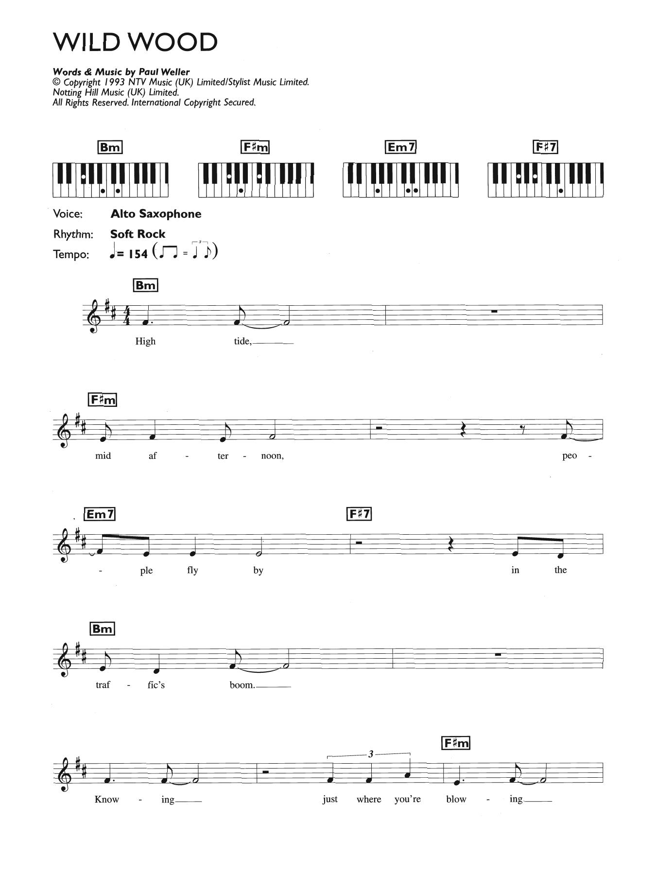 Wild Wood Sheet Music