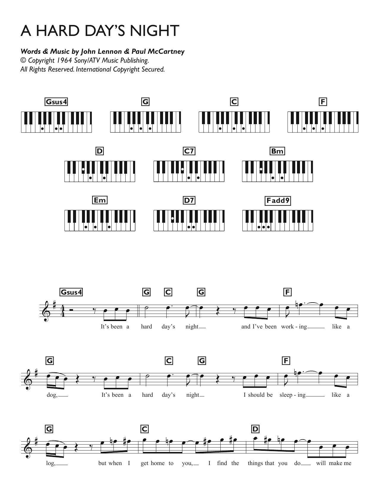 A Hard Day's Night Sheet Music