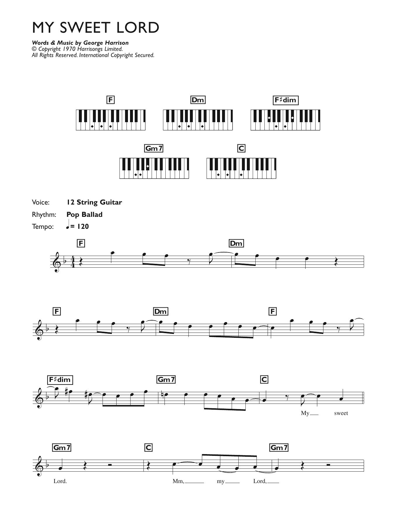 My Sweet Lord Sheet Music