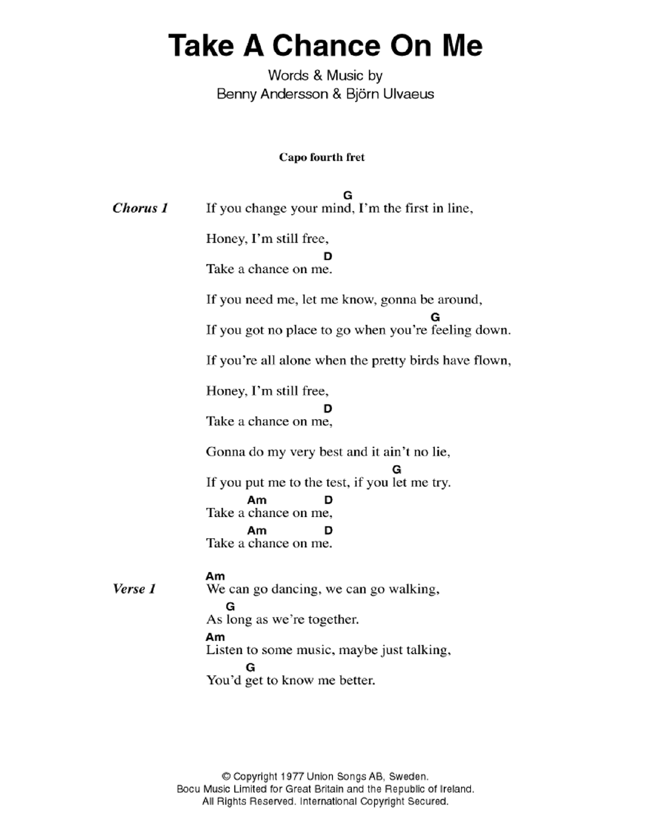 By Chance Guitar Chords