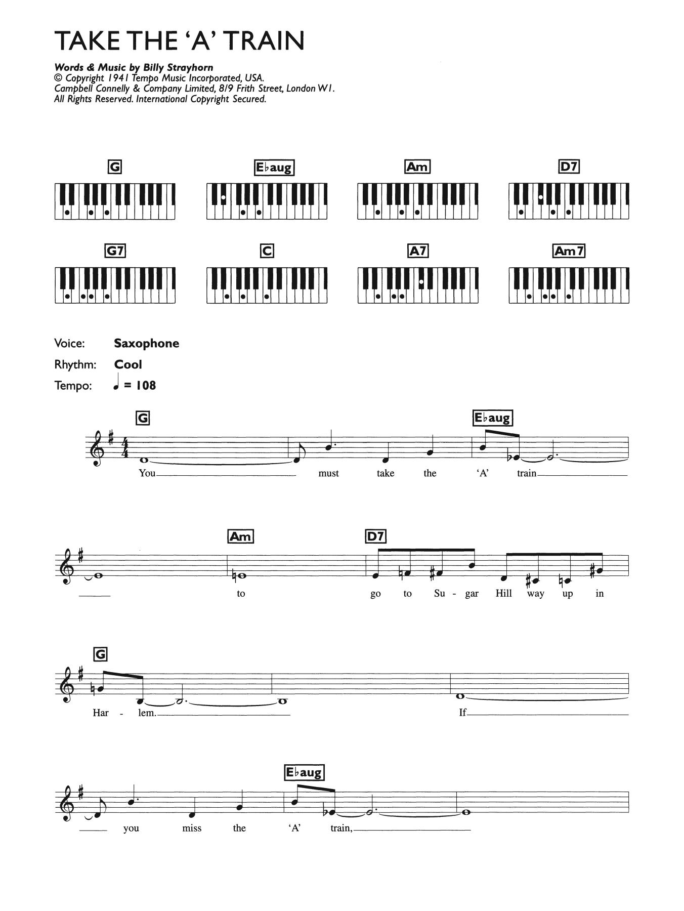 Jazz Music - Piano Chord at Stanton's Sheet Music