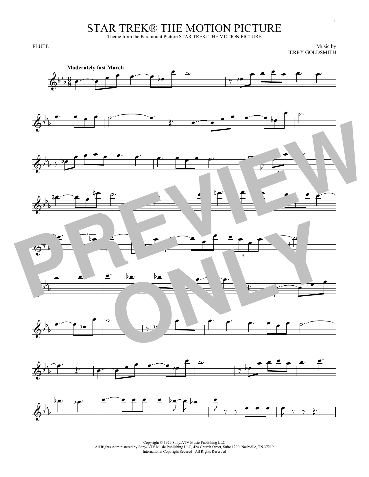 Star Trek The Motion Picture (Flute Solo)
