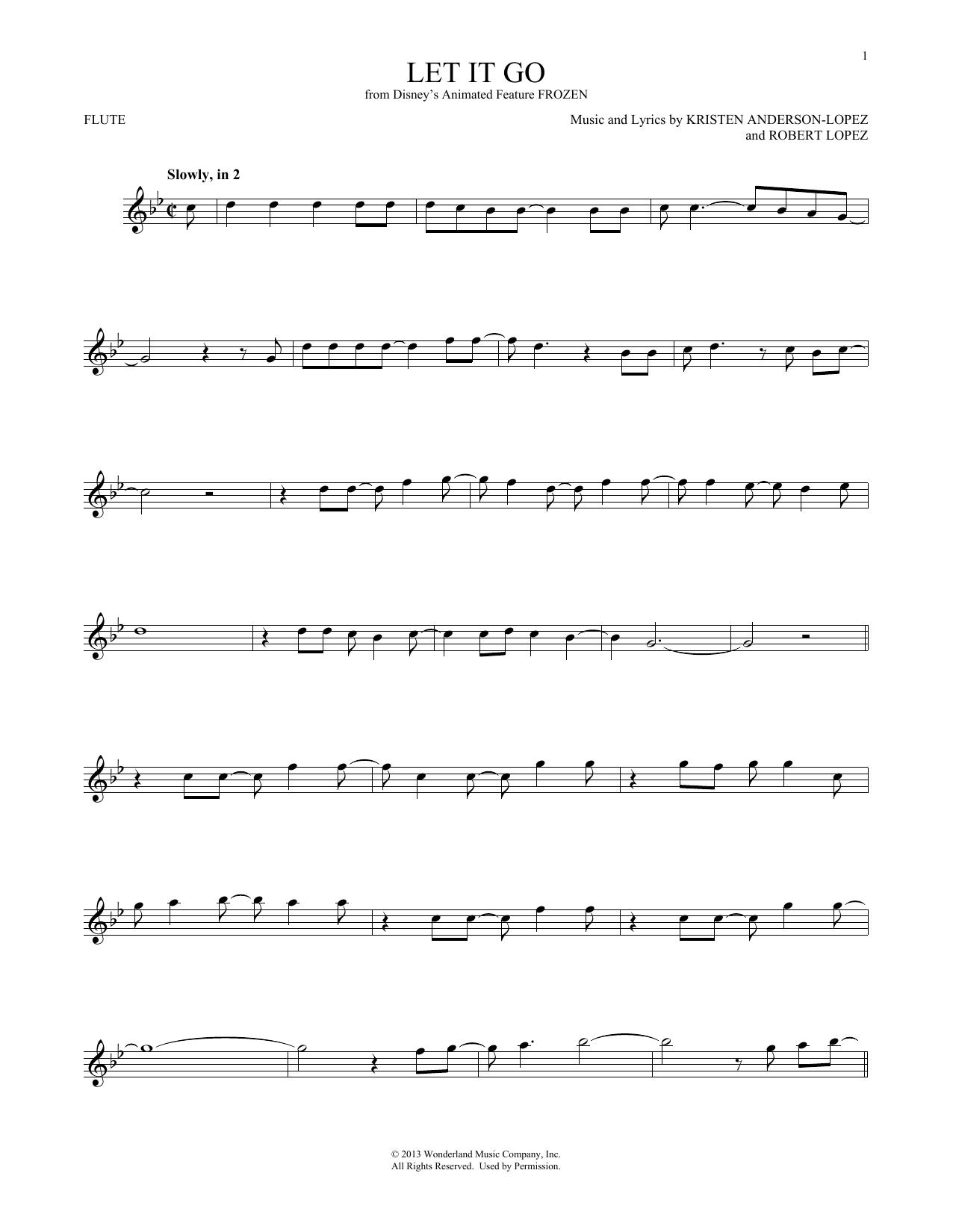 Let It Go (from Frozen) (Flute Solo)